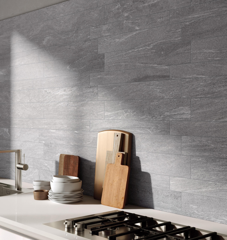 Stonework ardesia nera 60x60 ceramic tiles from for Rivestimenti cucina moderna pannelli