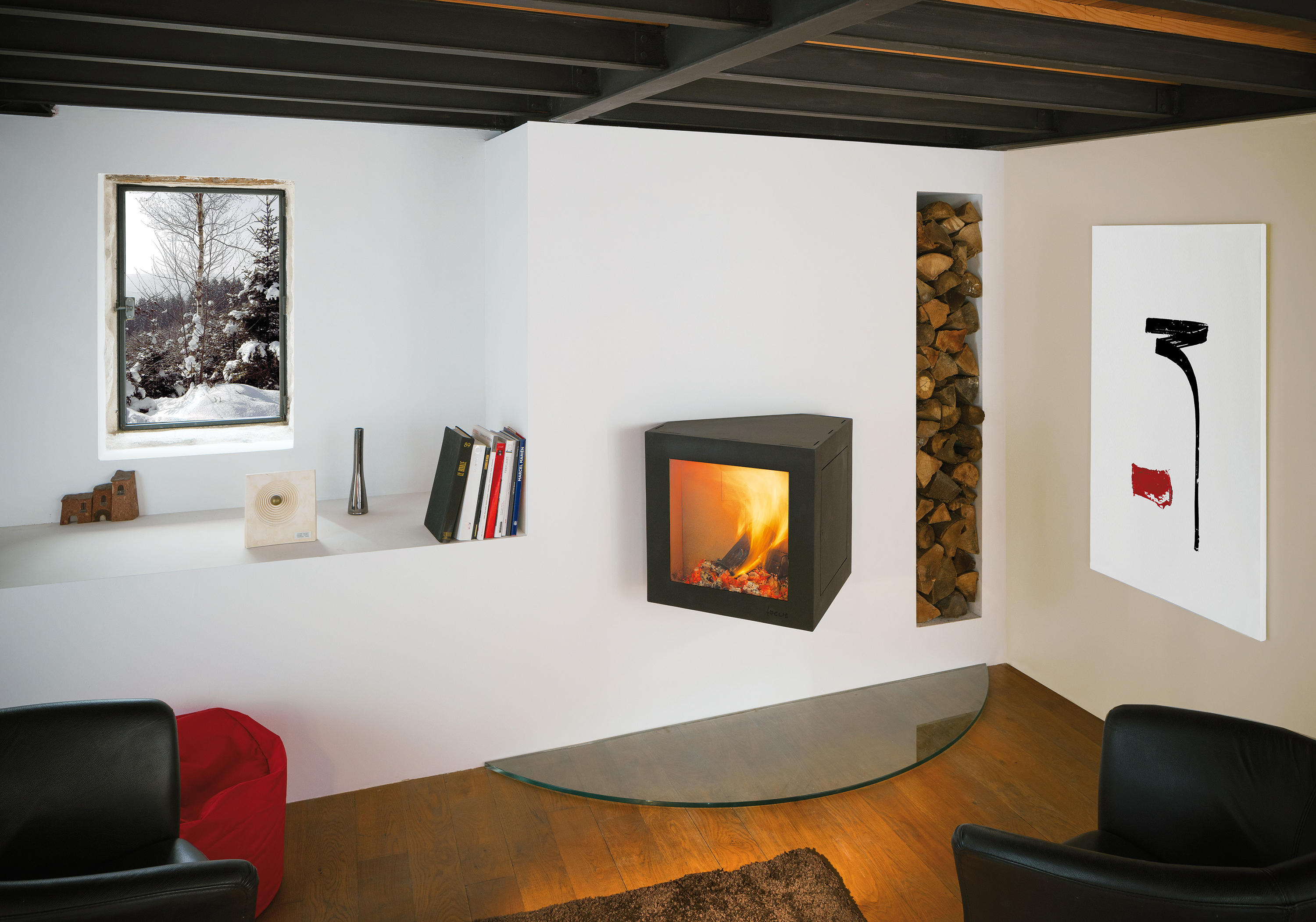 cubifocus wood burning stoves from focus architonic. Black Bedroom Furniture Sets. Home Design Ideas