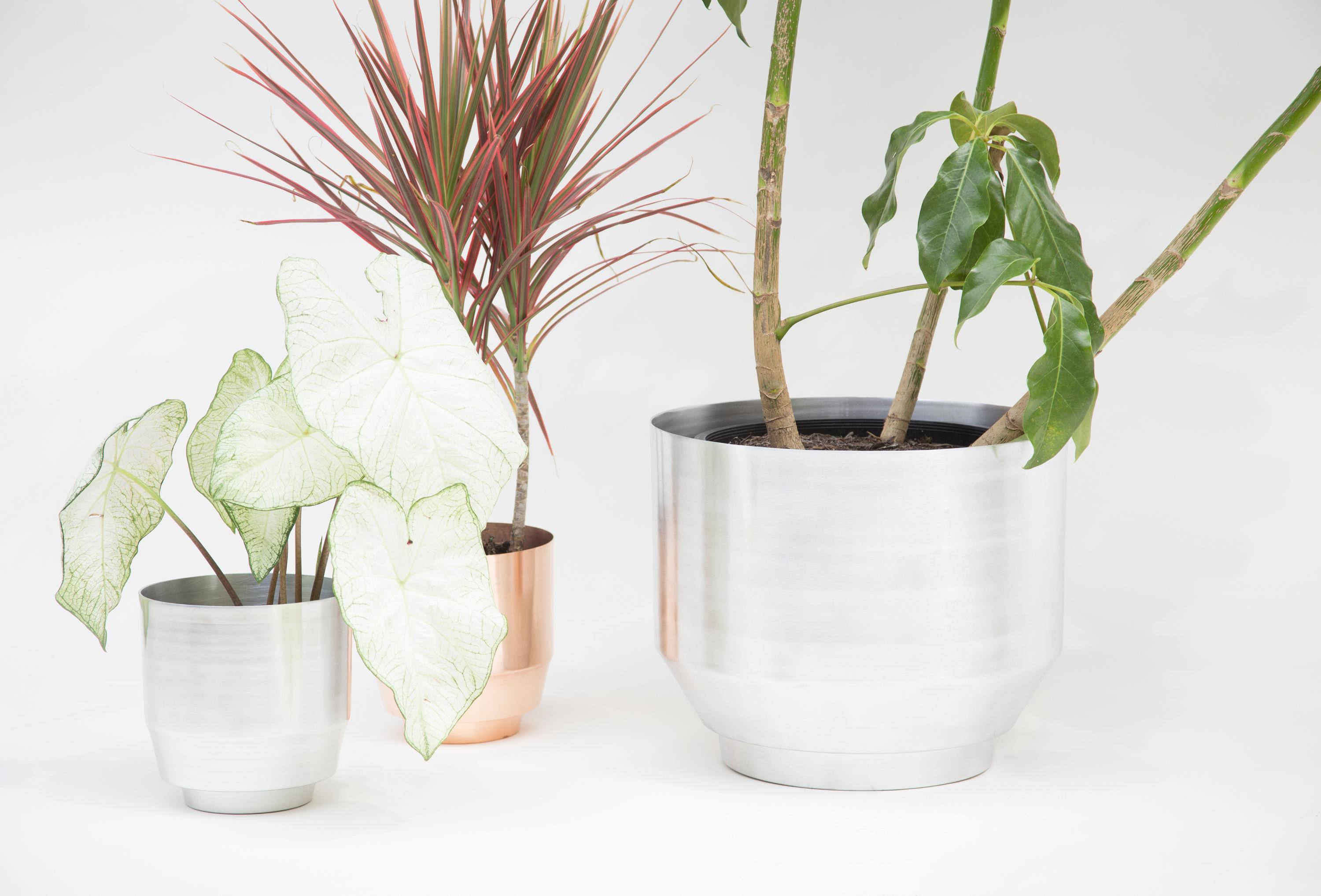 planter ideas planters garden marvelous round fancy indoor of stainless fabulous pots