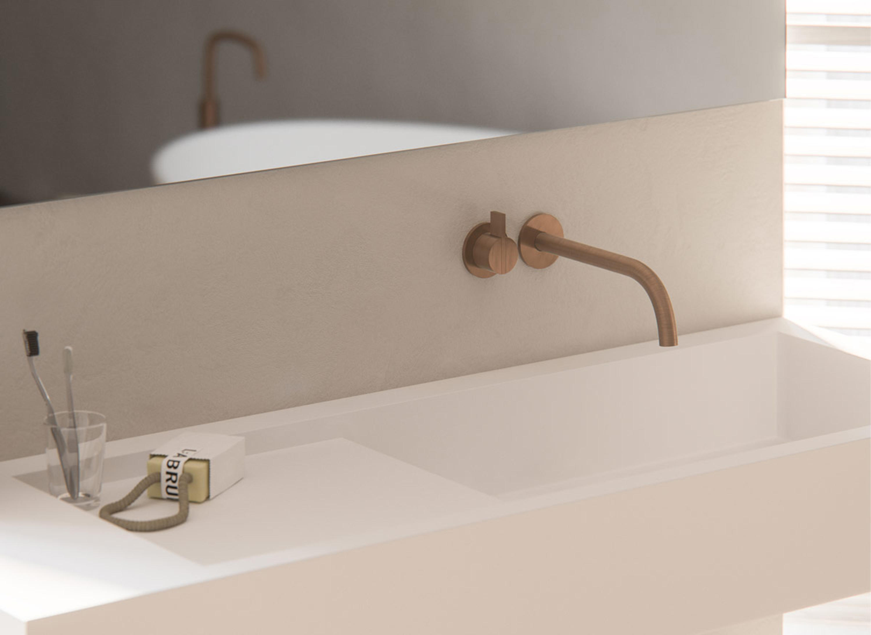 PB SET01 | WALL MOUNTED BASIN MIXER WITH SPOUT - Wash-basin taps ...