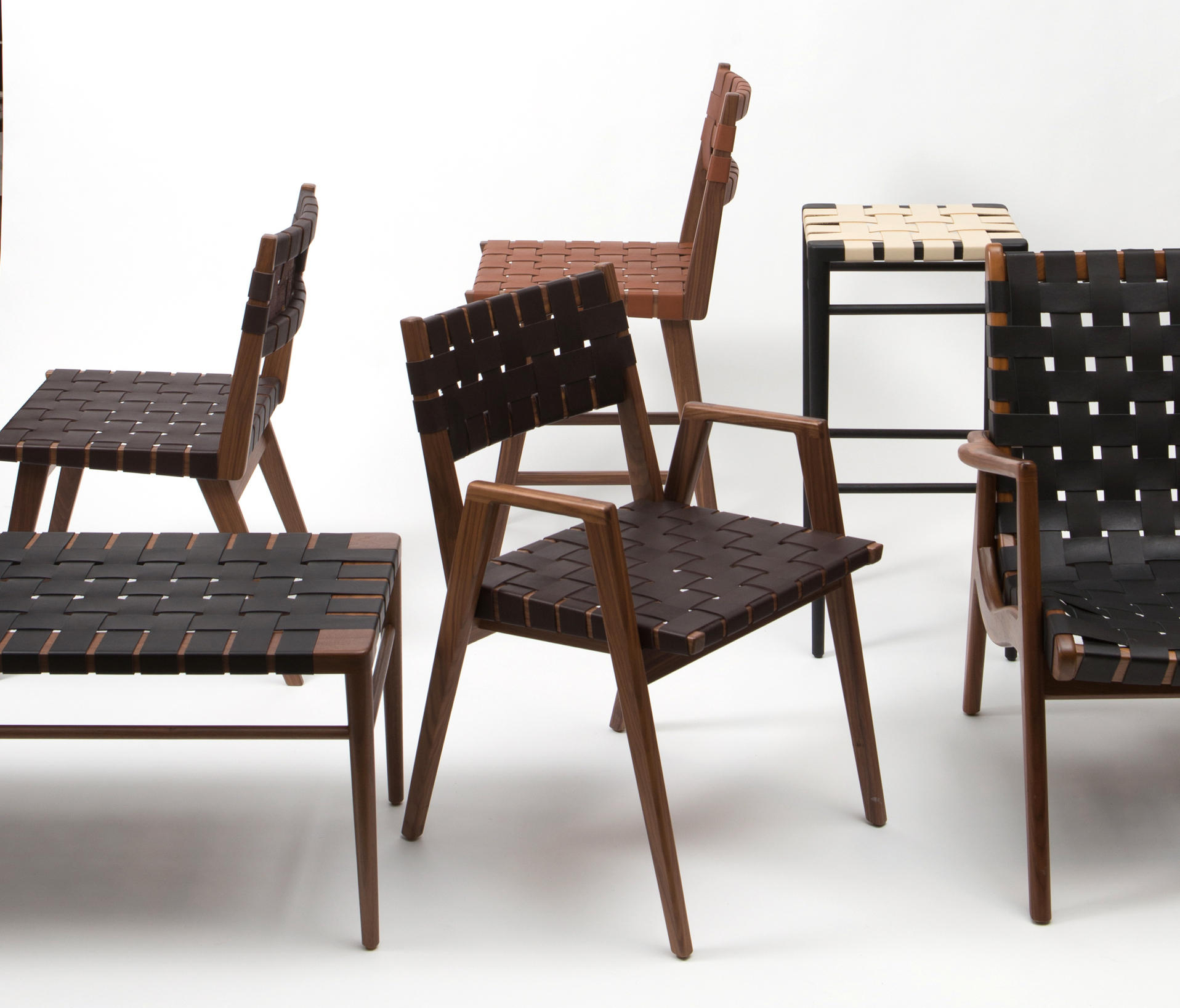 Woven Leather Armchair Armchairs From Smilow Design