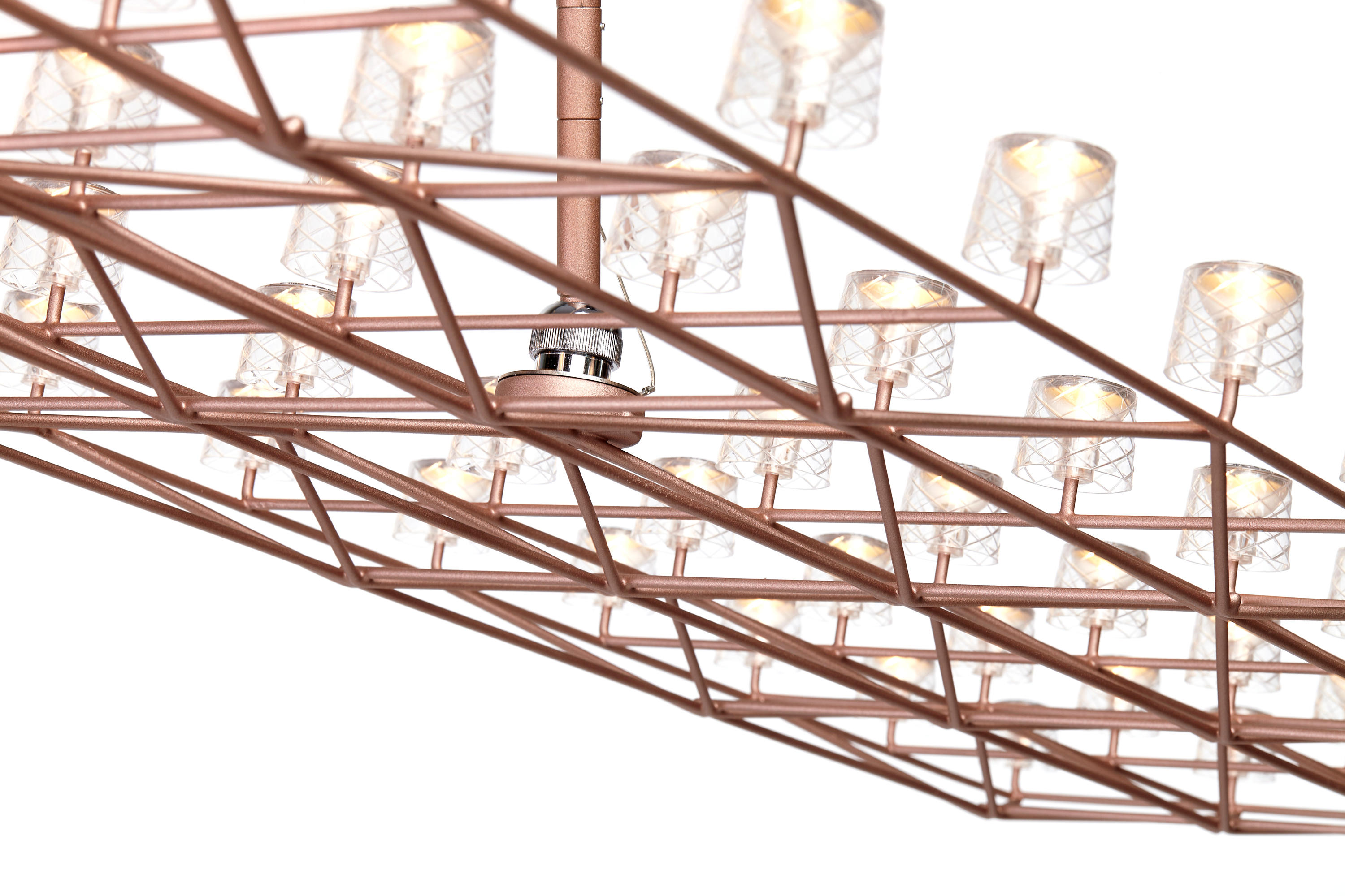 SPACE-FRAME LARGE - Ceiling suspended chandeliers from moooi ...
