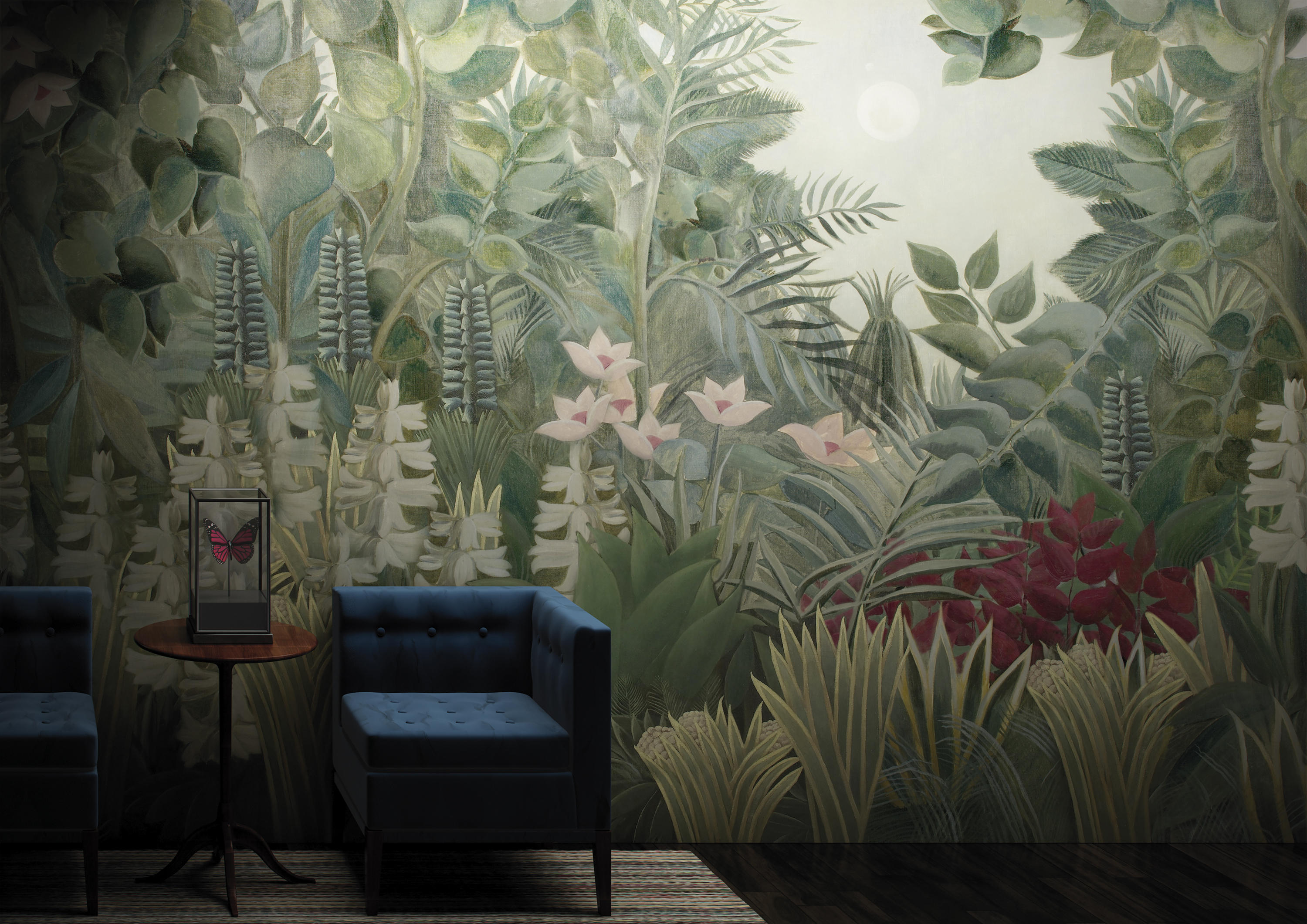 Paysage equatorial jungle bespoke wall coverings from for Parati da salone