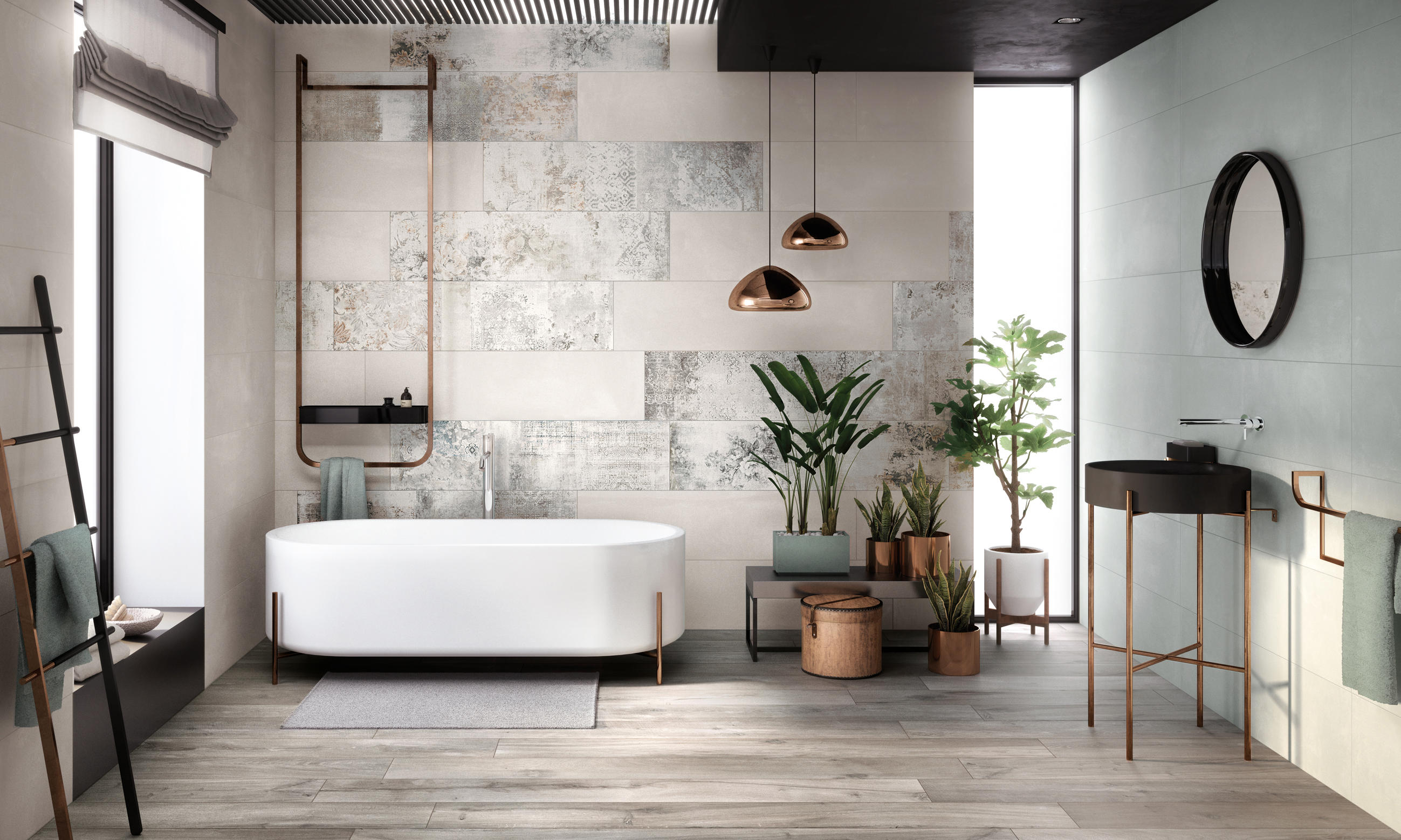 Crea ash ceramic tiles from ariana ceramica architonic for Moderne wandfliesen