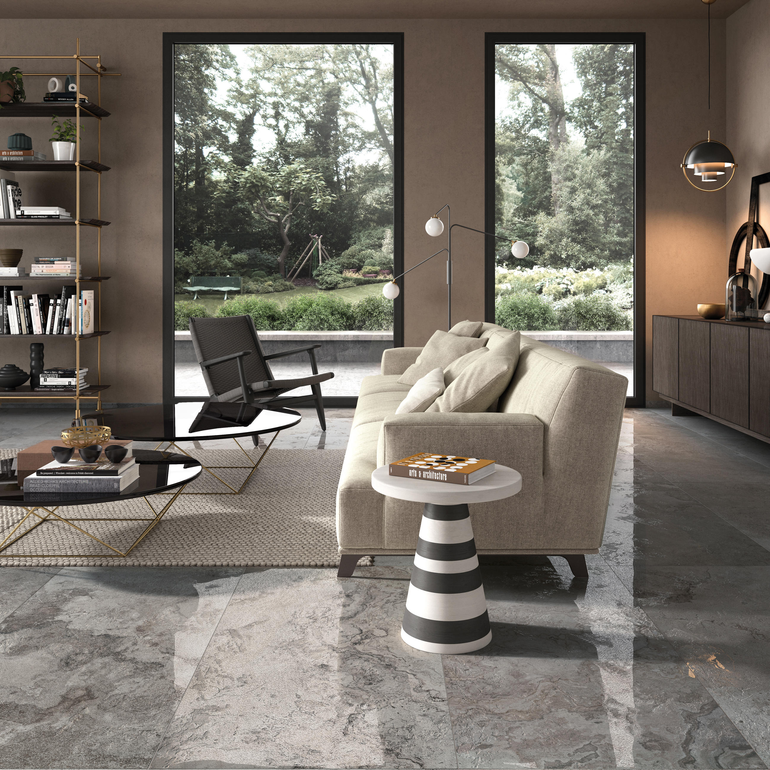 Alpes raw grey ceramic tiles from abk group architonic - Salon parquet gris ...