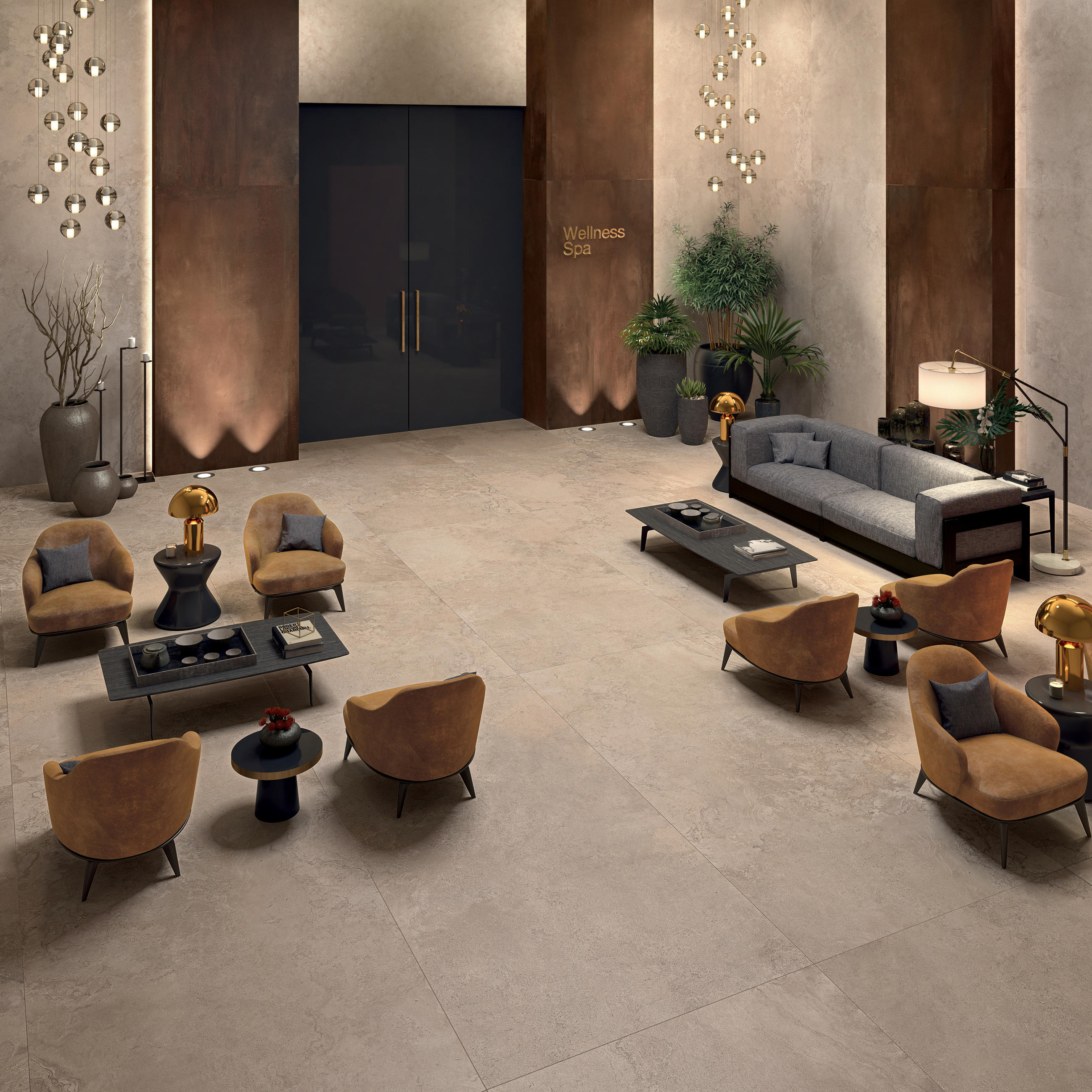 Alpes raw grey floor tiles from abk group architonic for Panneau mural deco