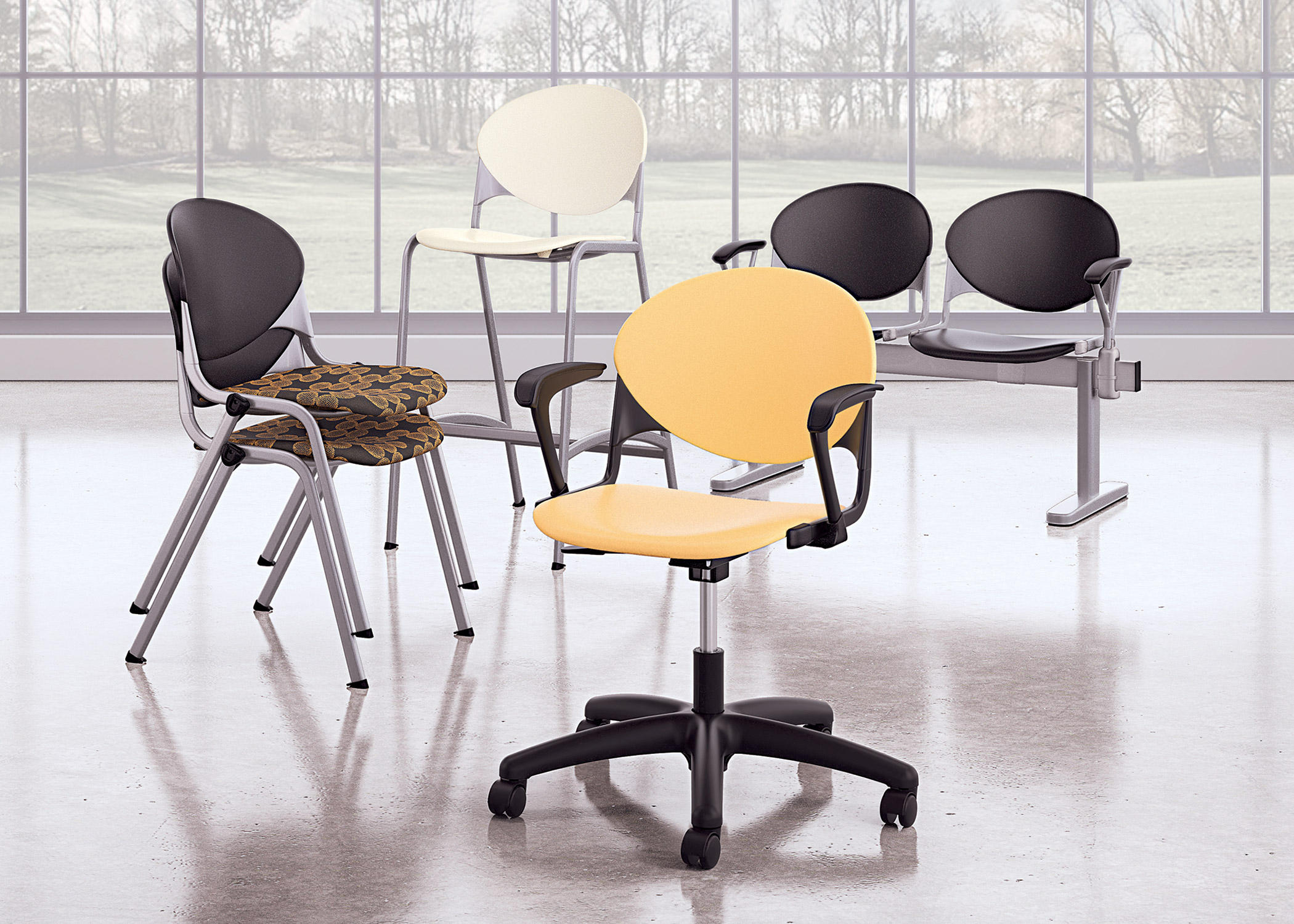 CINCH GUEST ARMLESS TASK CHAIR - Task chairs from National Office ...