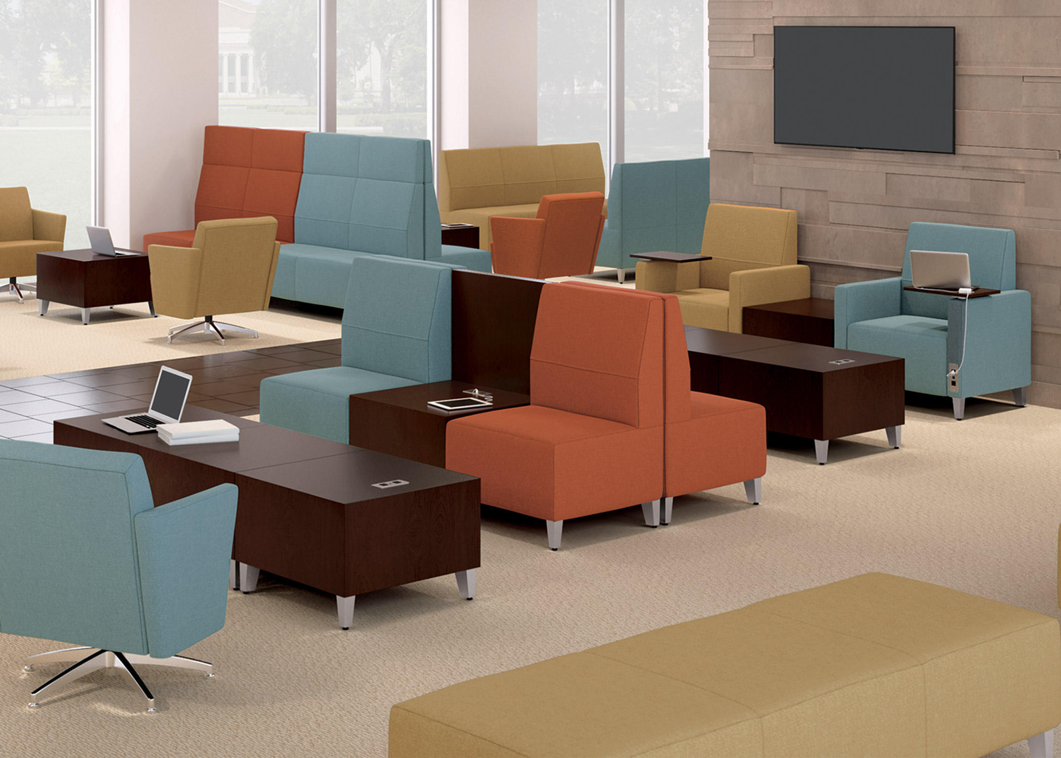 armless lounge chairs from national office furniture architonic