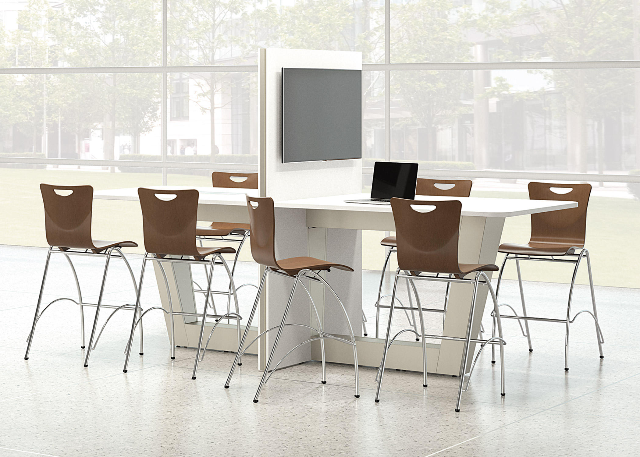 ... Jewel Armless Stacking Chair By National Office Furniture ...