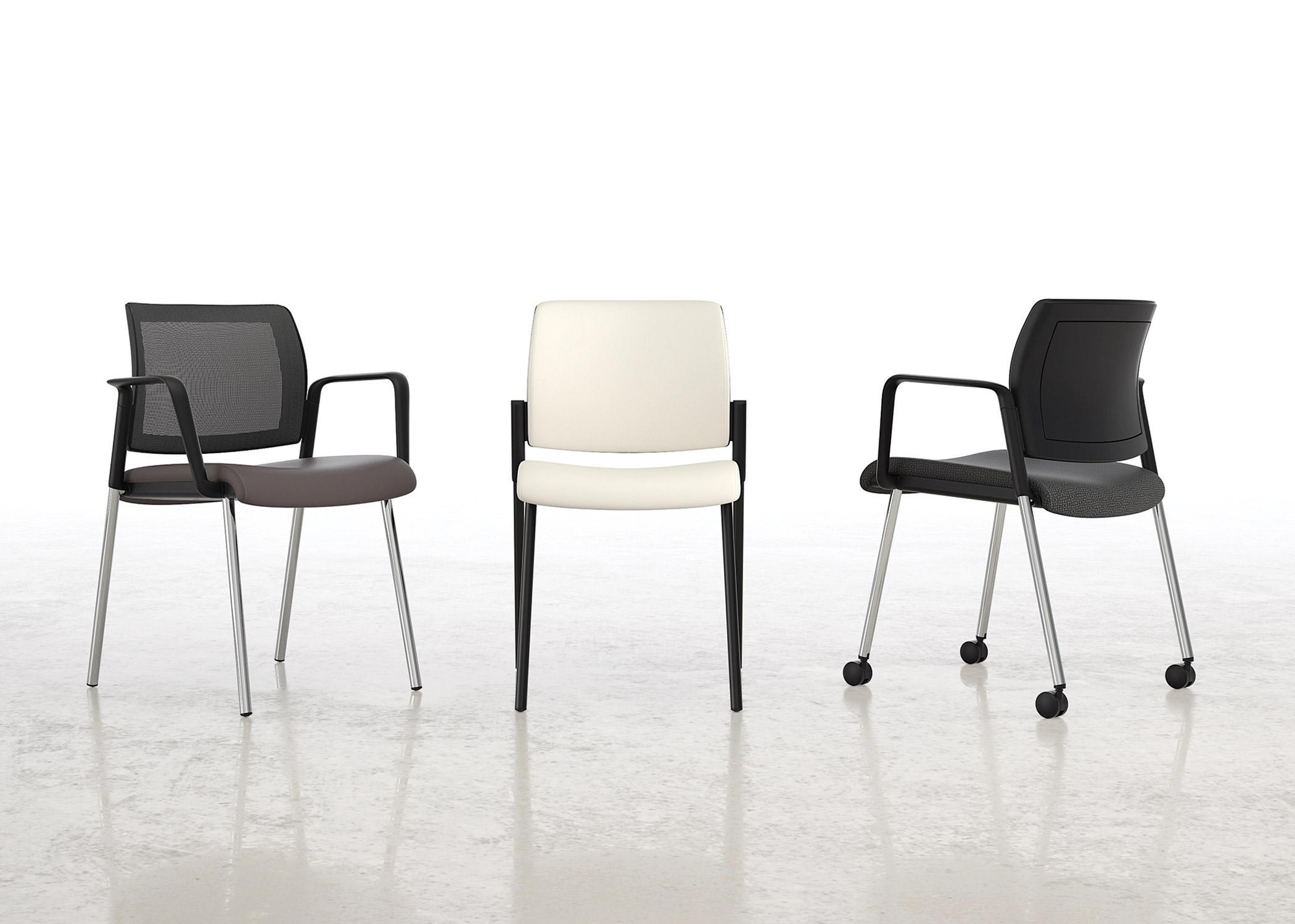 lavoro guest chair with upholstered back plastic seat mobile besucherst hle von national. Black Bedroom Furniture Sets. Home Design Ideas