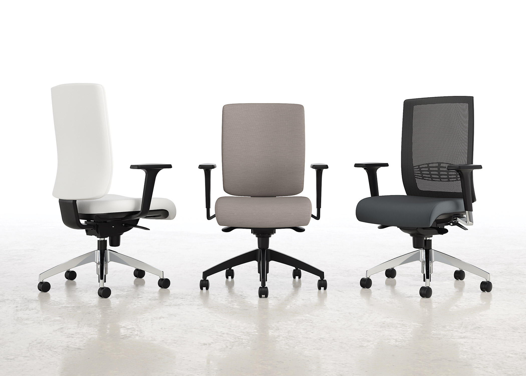 Lavoro Mesh Back Nylon Base Task Chairs From National