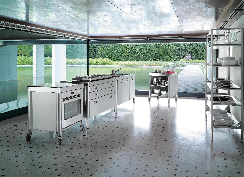 k chenwagen 70 mobile k chen von alpes inox architonic. Black Bedroom Furniture Sets. Home Design Ideas