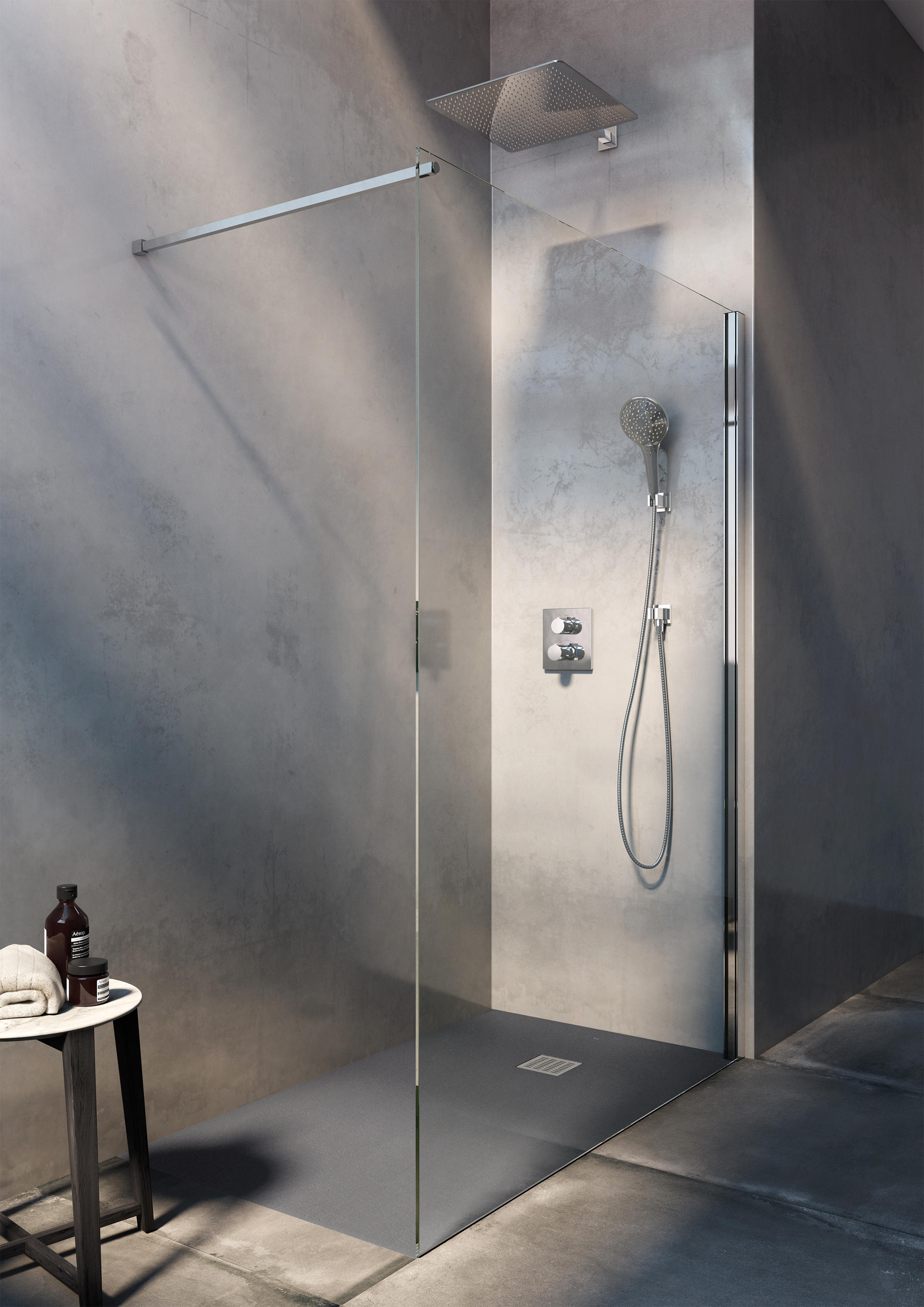 raindream shower head shower controls from roca architonic