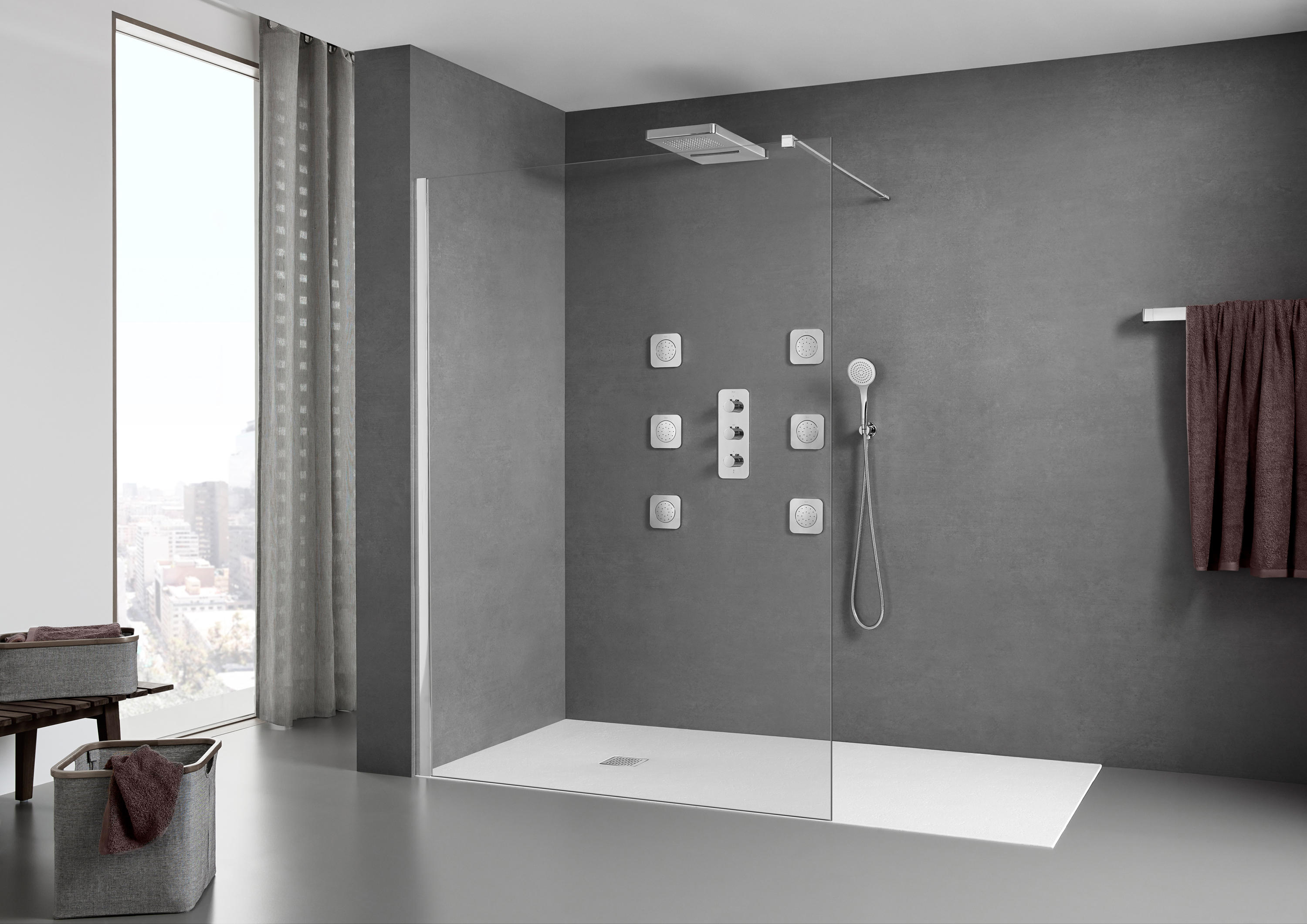 ura df shower screen shower screens from roca architonic. Black Bedroom Furniture Sets. Home Design Ideas