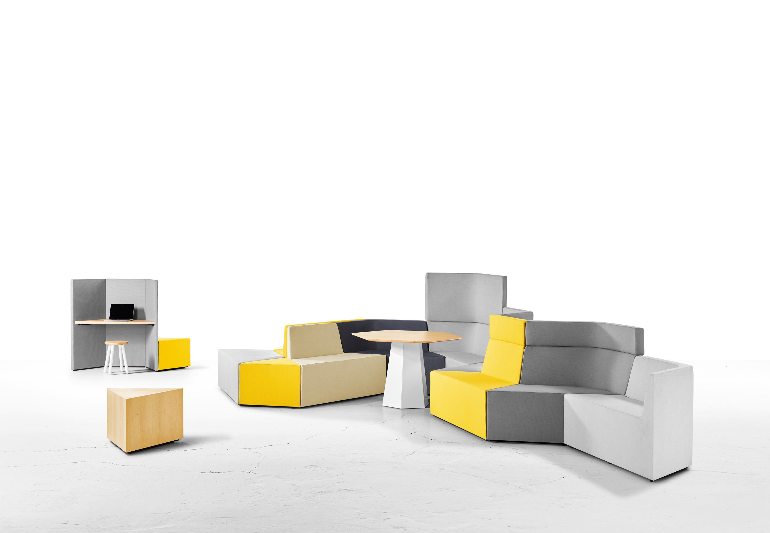 Prisma Modular Seating Elements From Derlot Editions