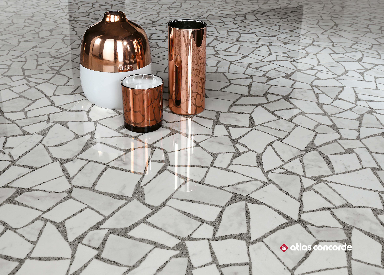 Marvel Gems Terrazzo Blue Mosaico Ceramic Tiles From