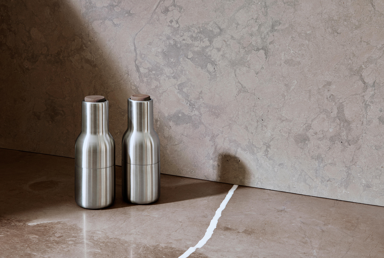 bottle grinder mirror polished stainles steel 2 pack. Black Bedroom Furniture Sets. Home Design Ideas