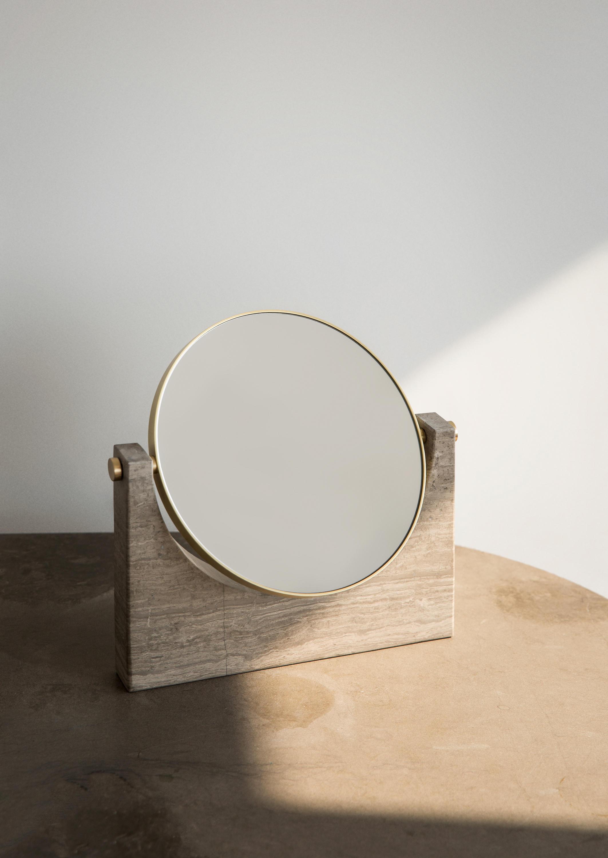 Pepe Marble Mirror Brass Green Espejos De Menu
