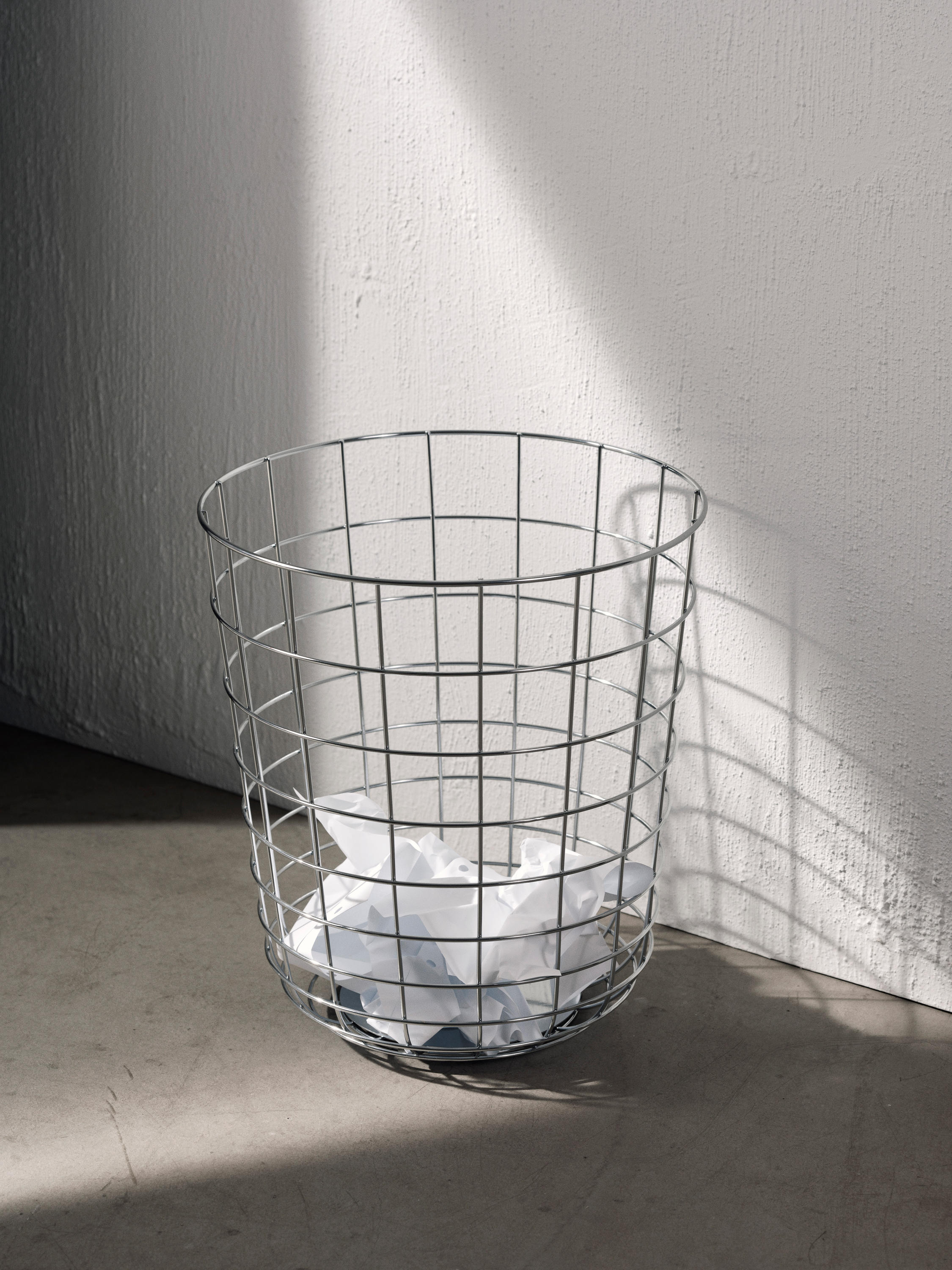 WIRE BIN CHROME - Waste baskets from MENU | Architonic