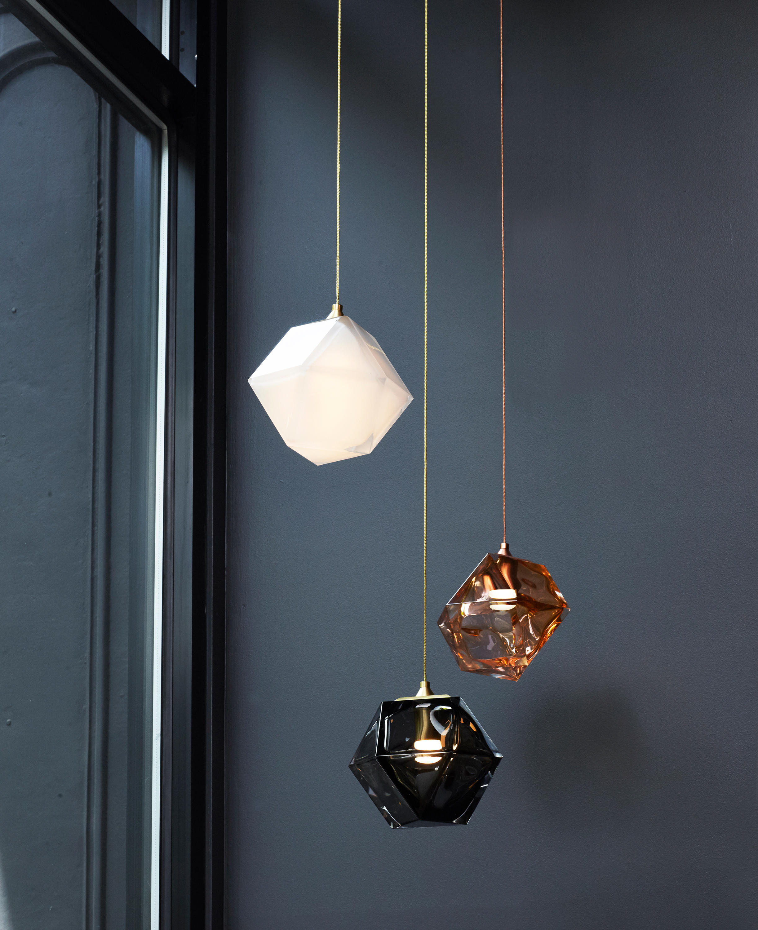 cylindrical lamp pendant large bubbled hanging glass