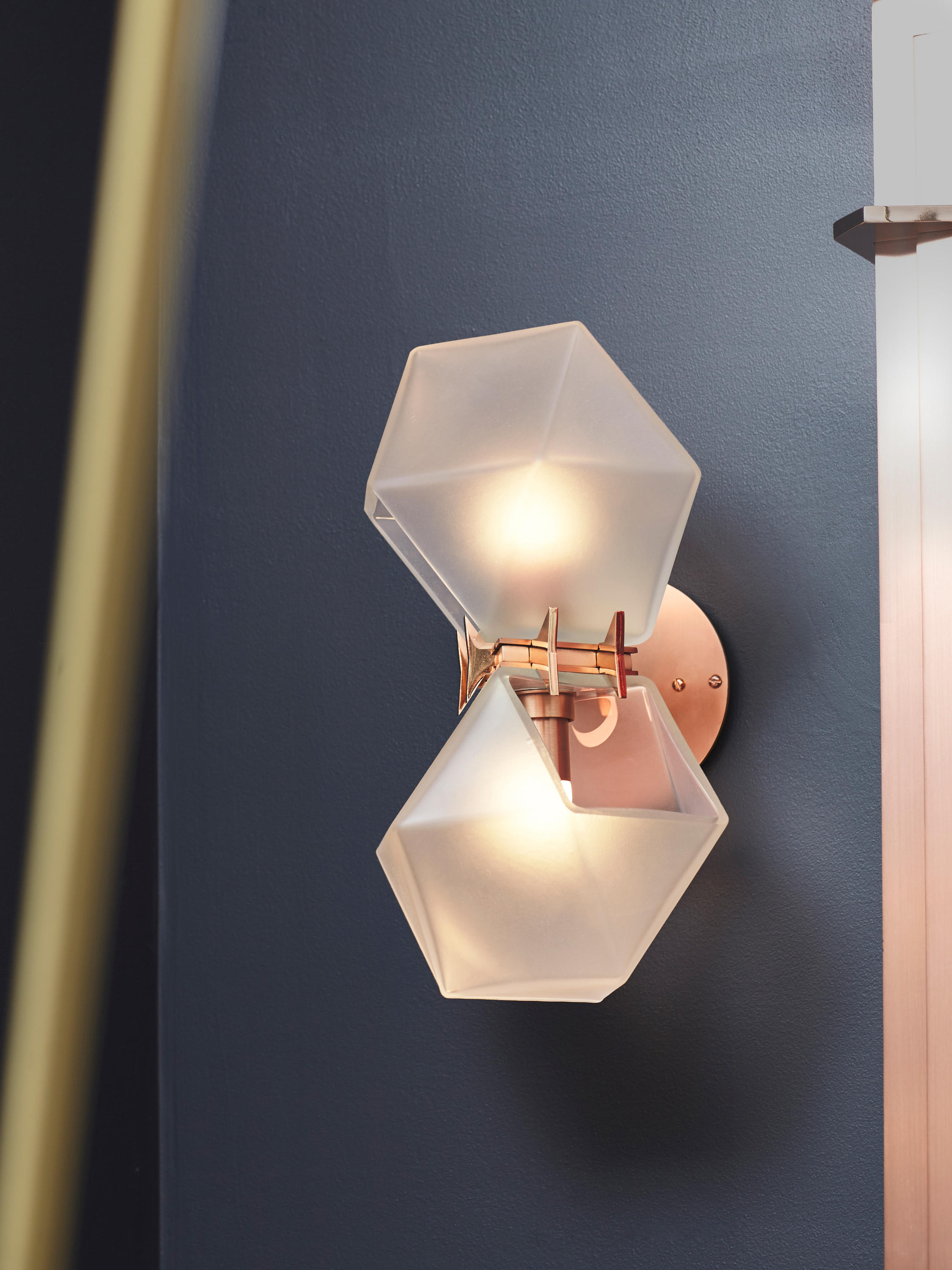 Welles Double Blown Glass Pendant Suspended Lights From