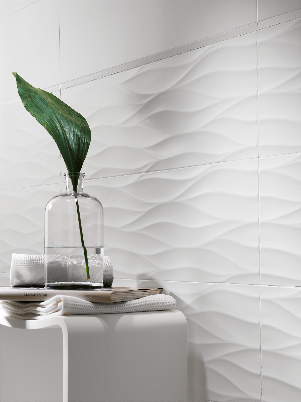 Lumina dune bianco inserto baldosas de fap ceramiche for H rivestimento bagno
