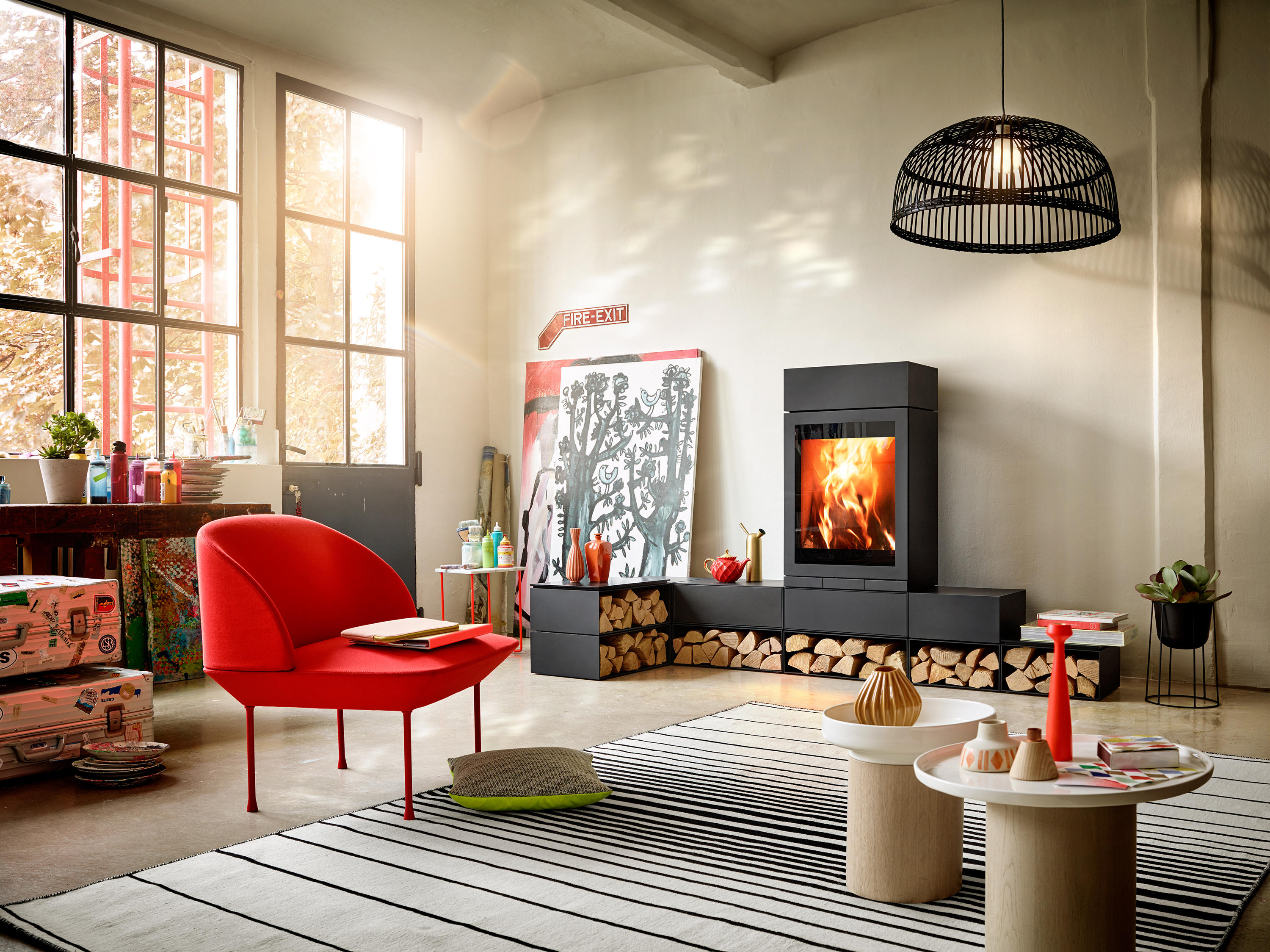 elements rund stoves from skantherm architonic. Black Bedroom Furniture Sets. Home Design Ideas