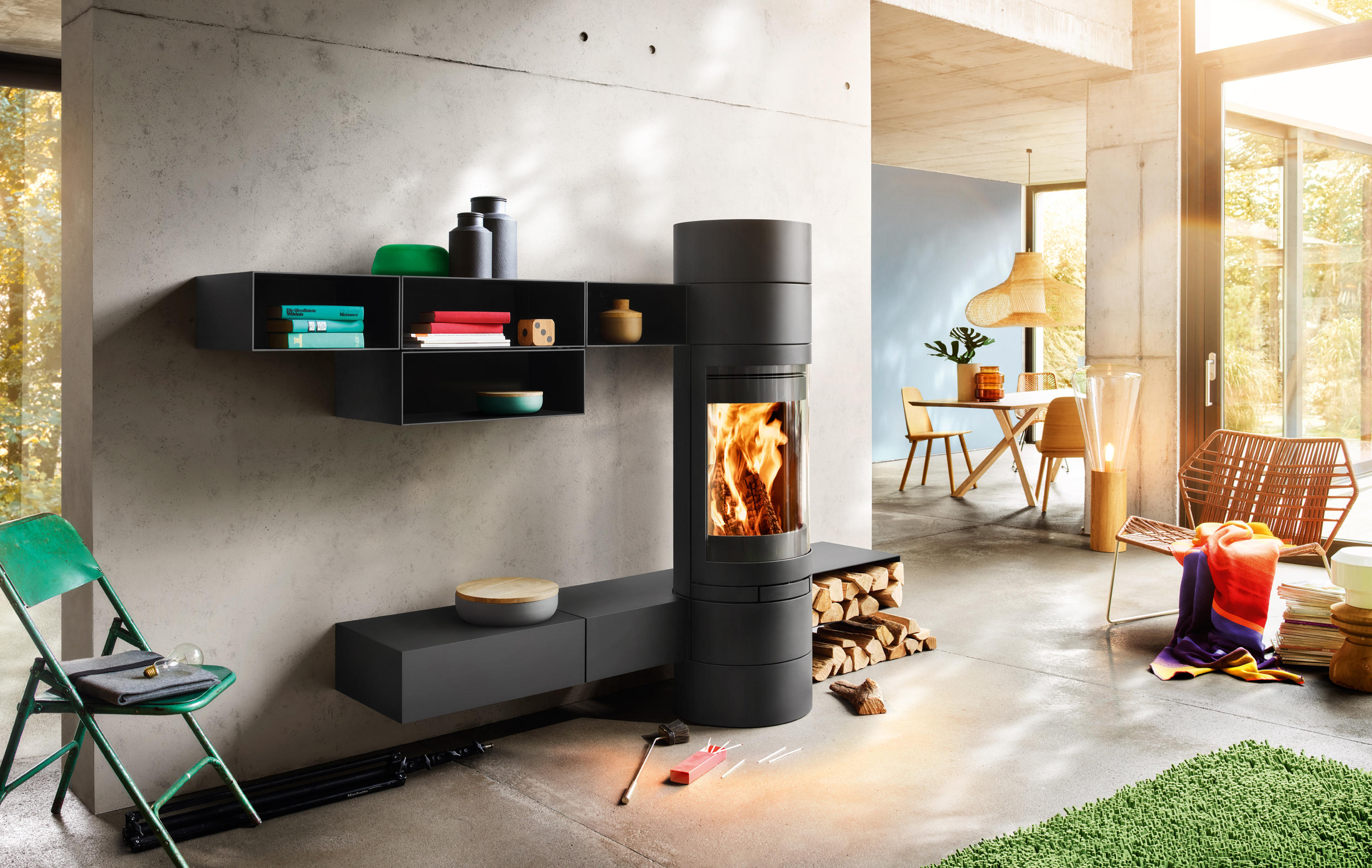 Elements Rund Stoves From Skantherm Architonic