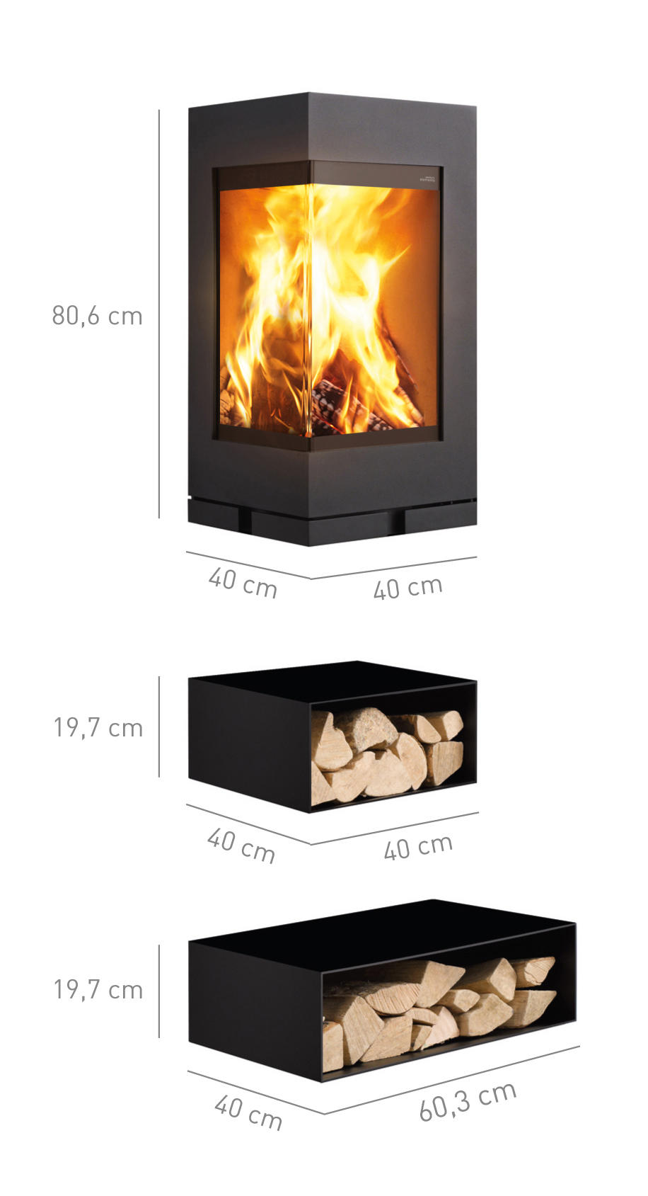 elements rund wood burning stoves from skantherm architonic. Black Bedroom Furniture Sets. Home Design Ideas