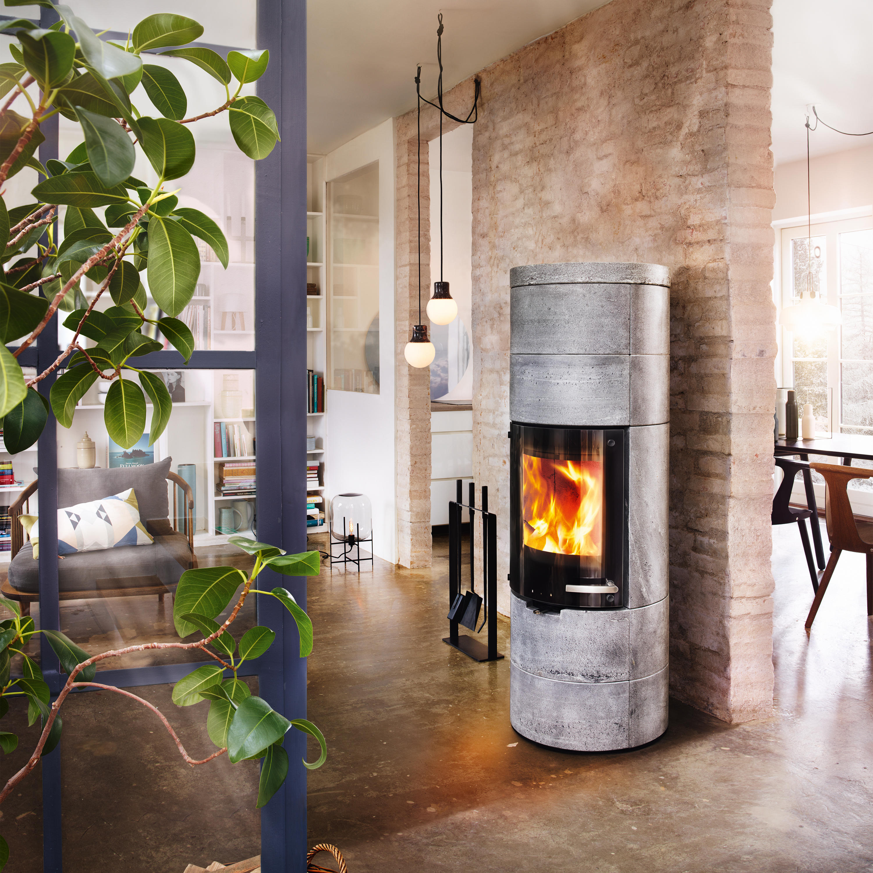 milano stein wood burning stoves from skantherm architonic. Black Bedroom Furniture Sets. Home Design Ideas
