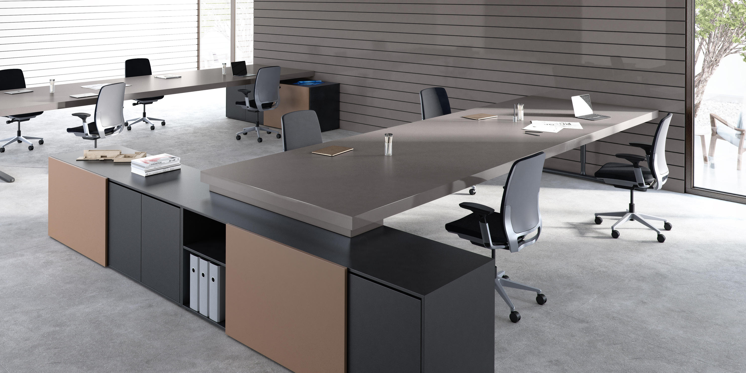 cool gray office furniture. m  quartz functional cool grey by compac