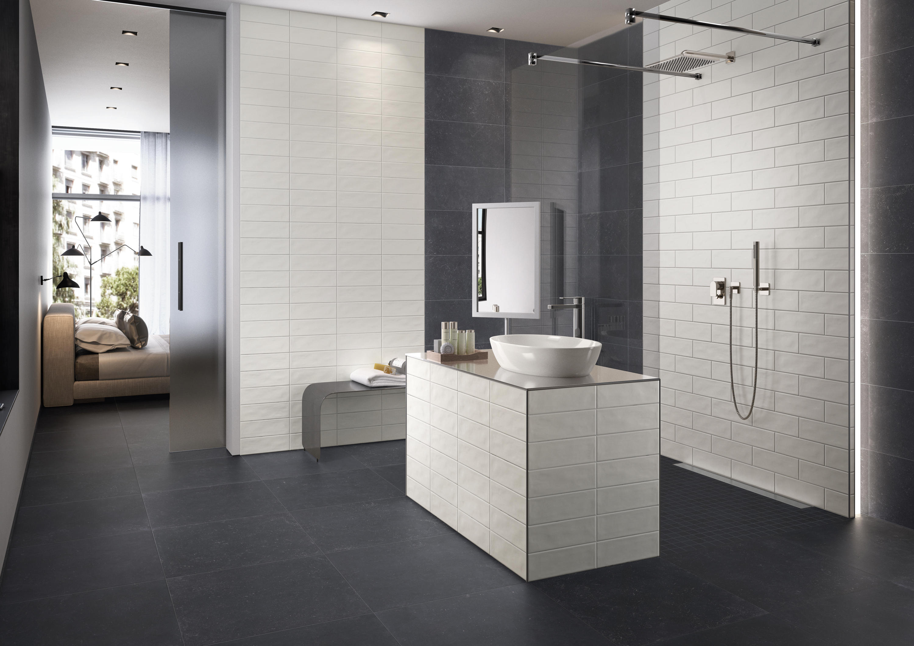 Urbantone li20 ceramic tiles from villeroy boch for Bodenfliesen badezimmer