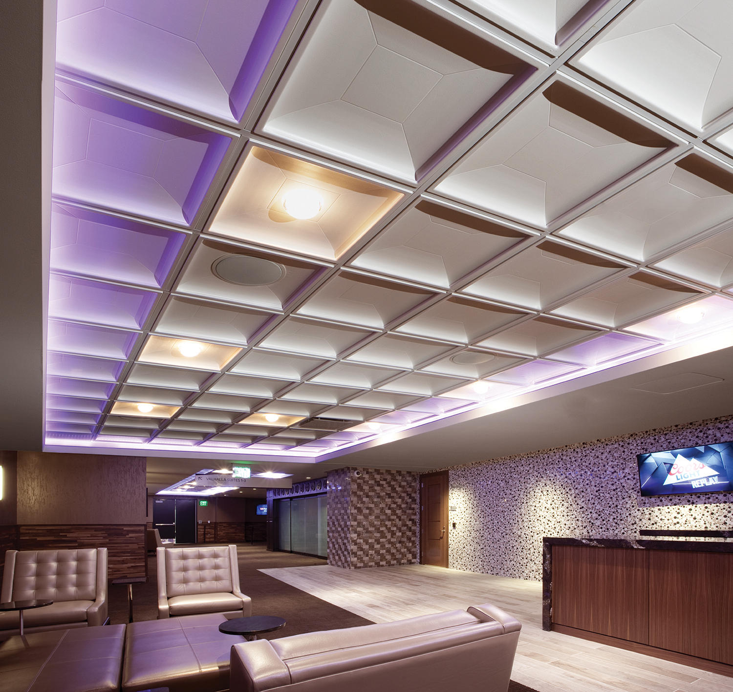 Contemporary Coffer Ceiling Tile Panels By Above View