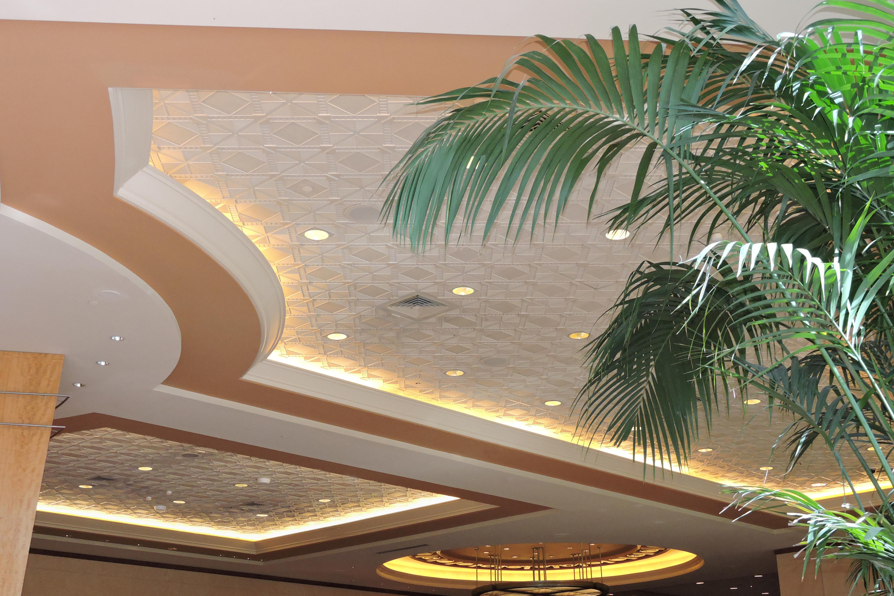 Deco 2 Square Ceiling Tile Mineral Composite Panels From Above