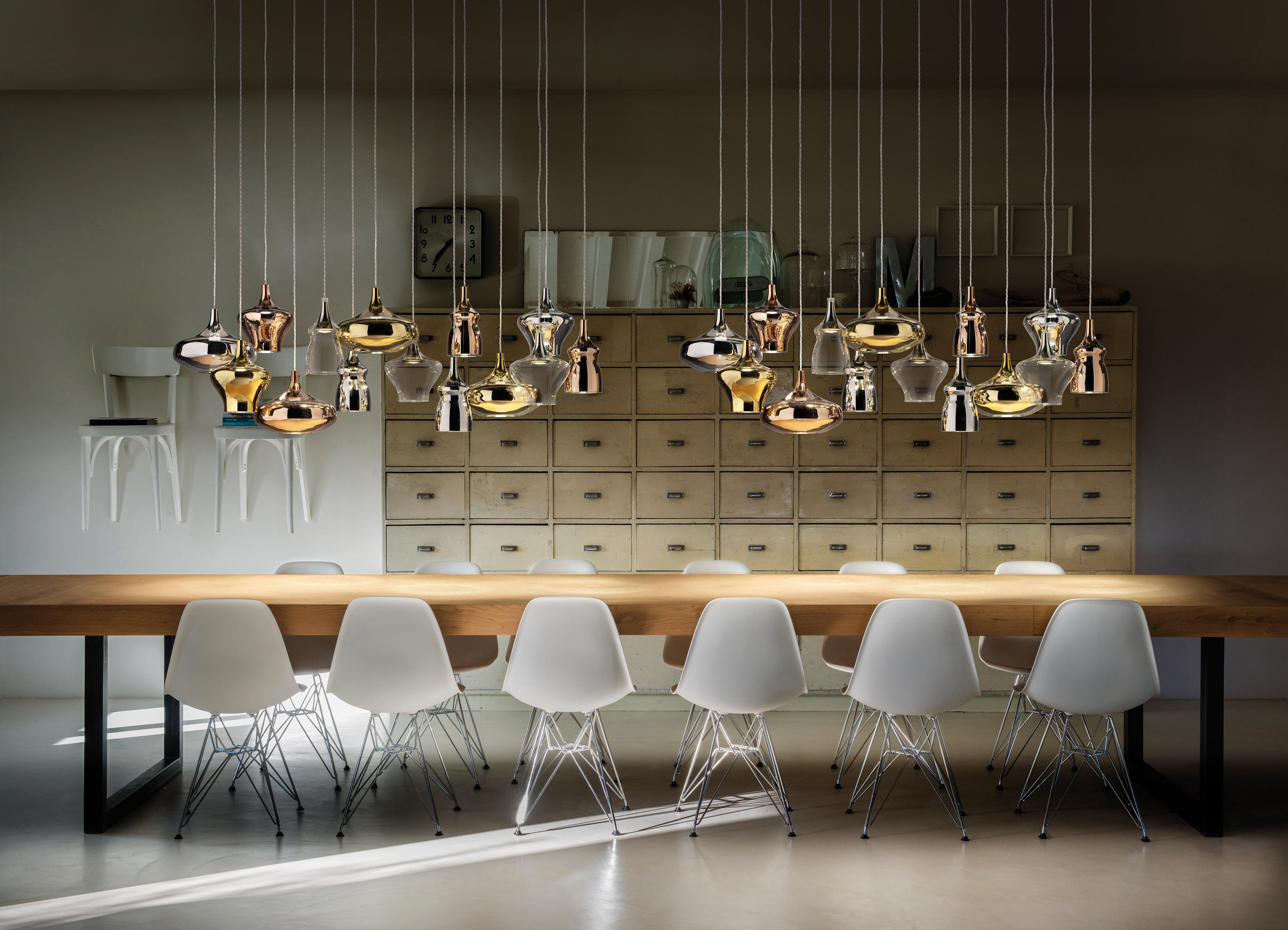 nostalgia suspended lights from studio italia design