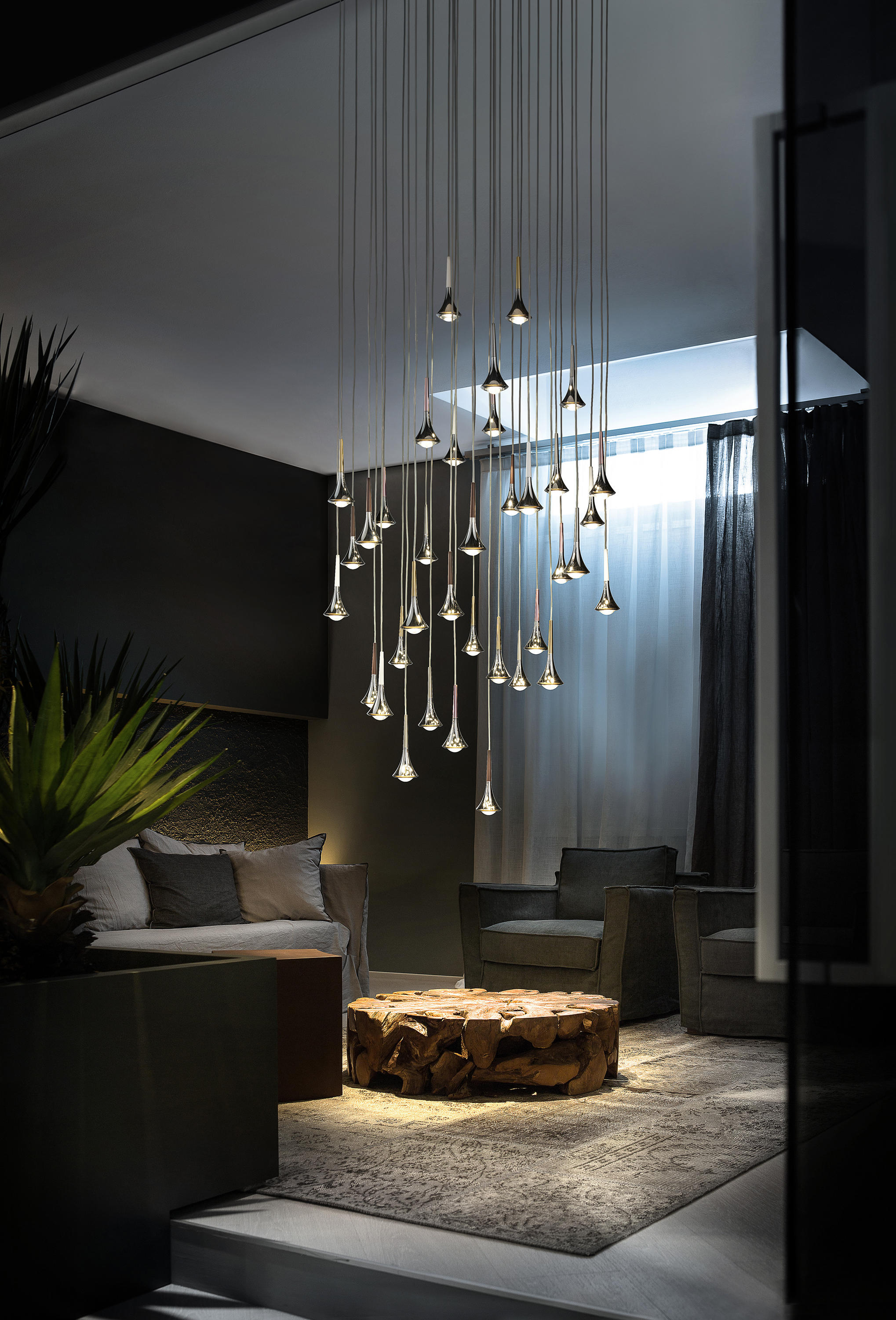 Rain general lighting from studio italia design architonic for Luminaire suspension design
