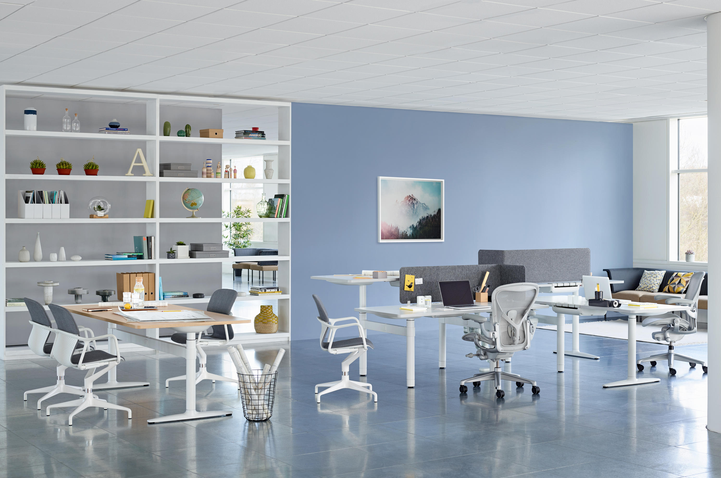 Atlas Office Landscape Desks From Herman Miller Architonic