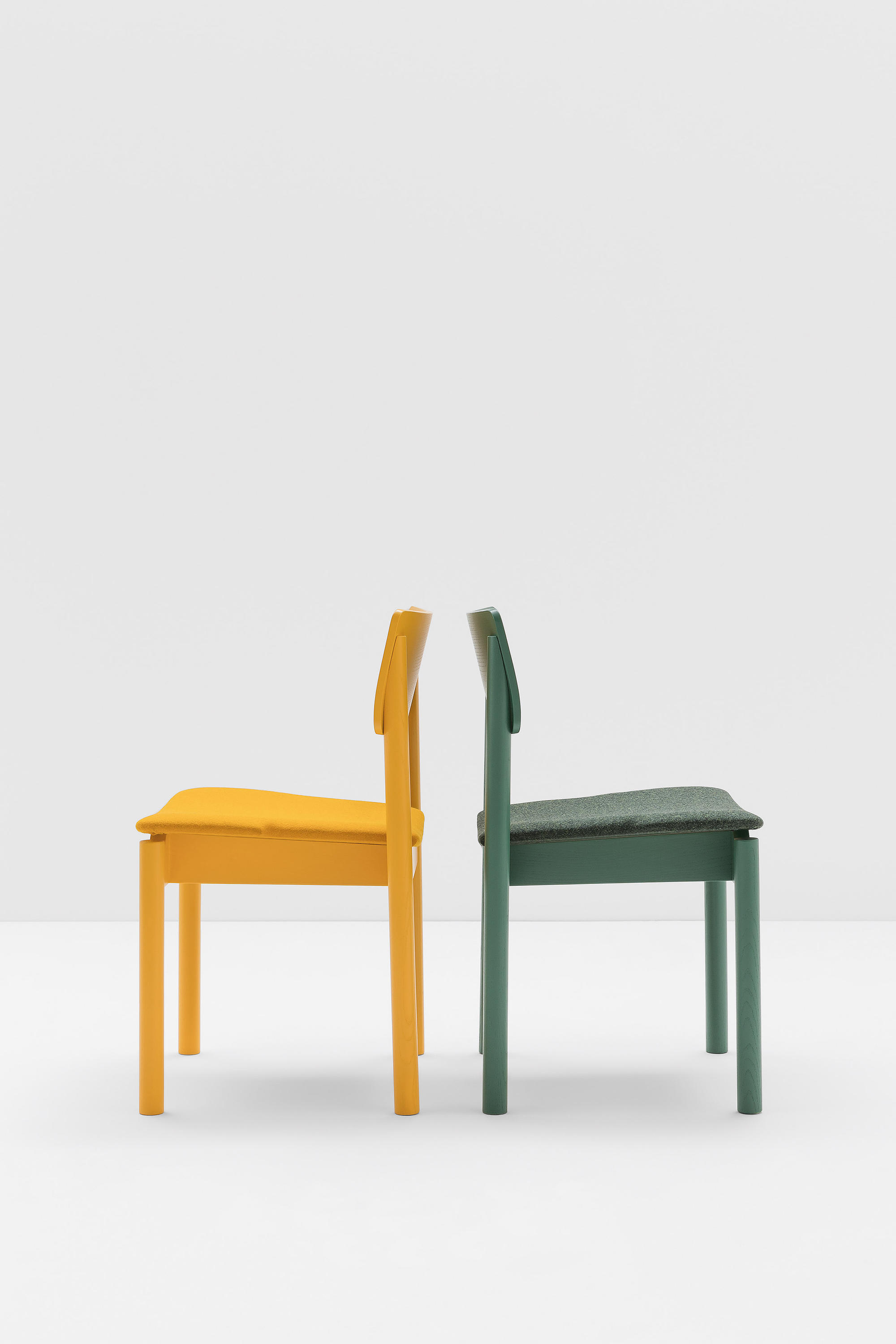 Wooden Chair. Green Wooden Chair By Billiani