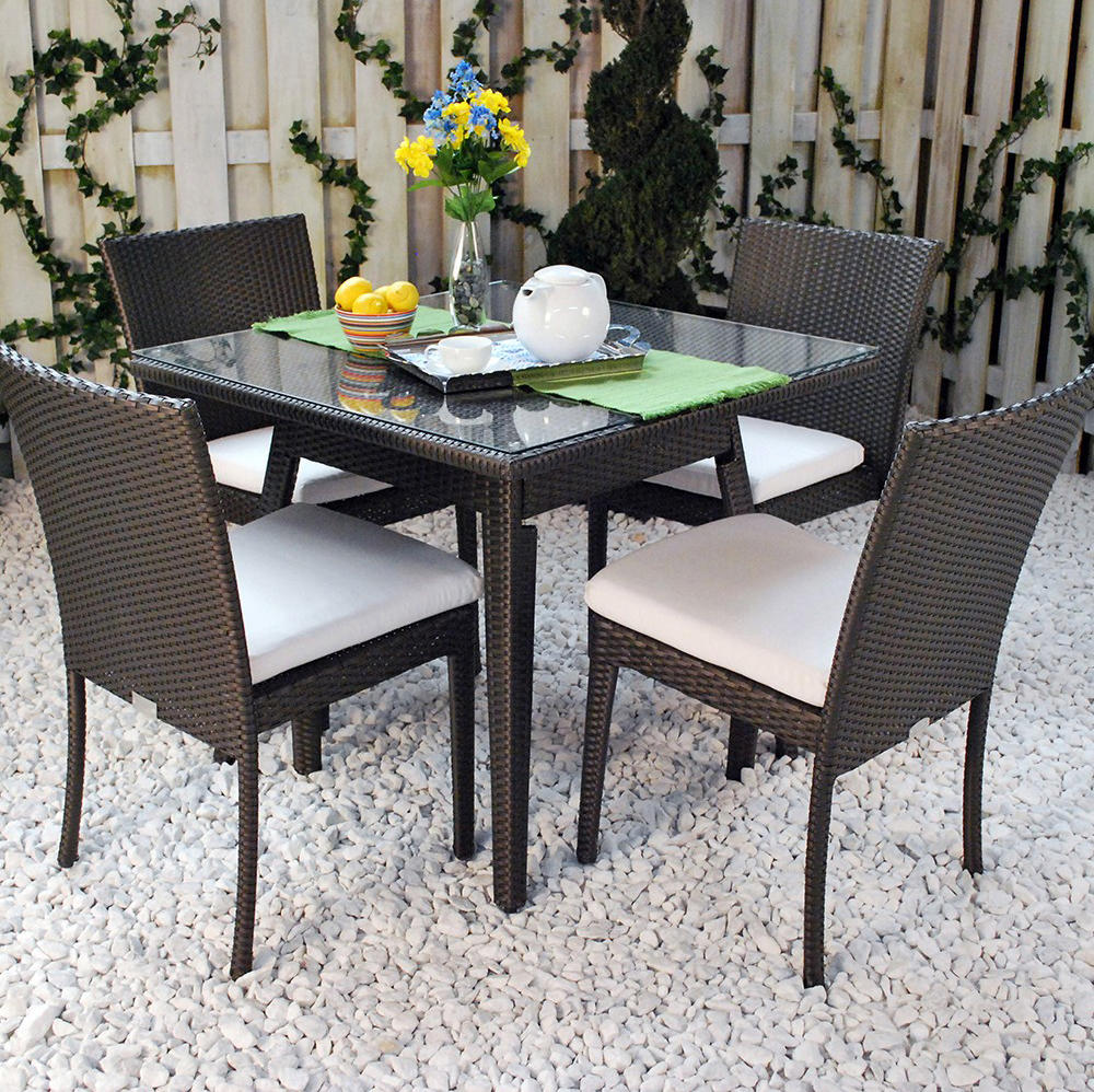 Senna 60 round dining table with tempered glass top for Tempered glass dining table
