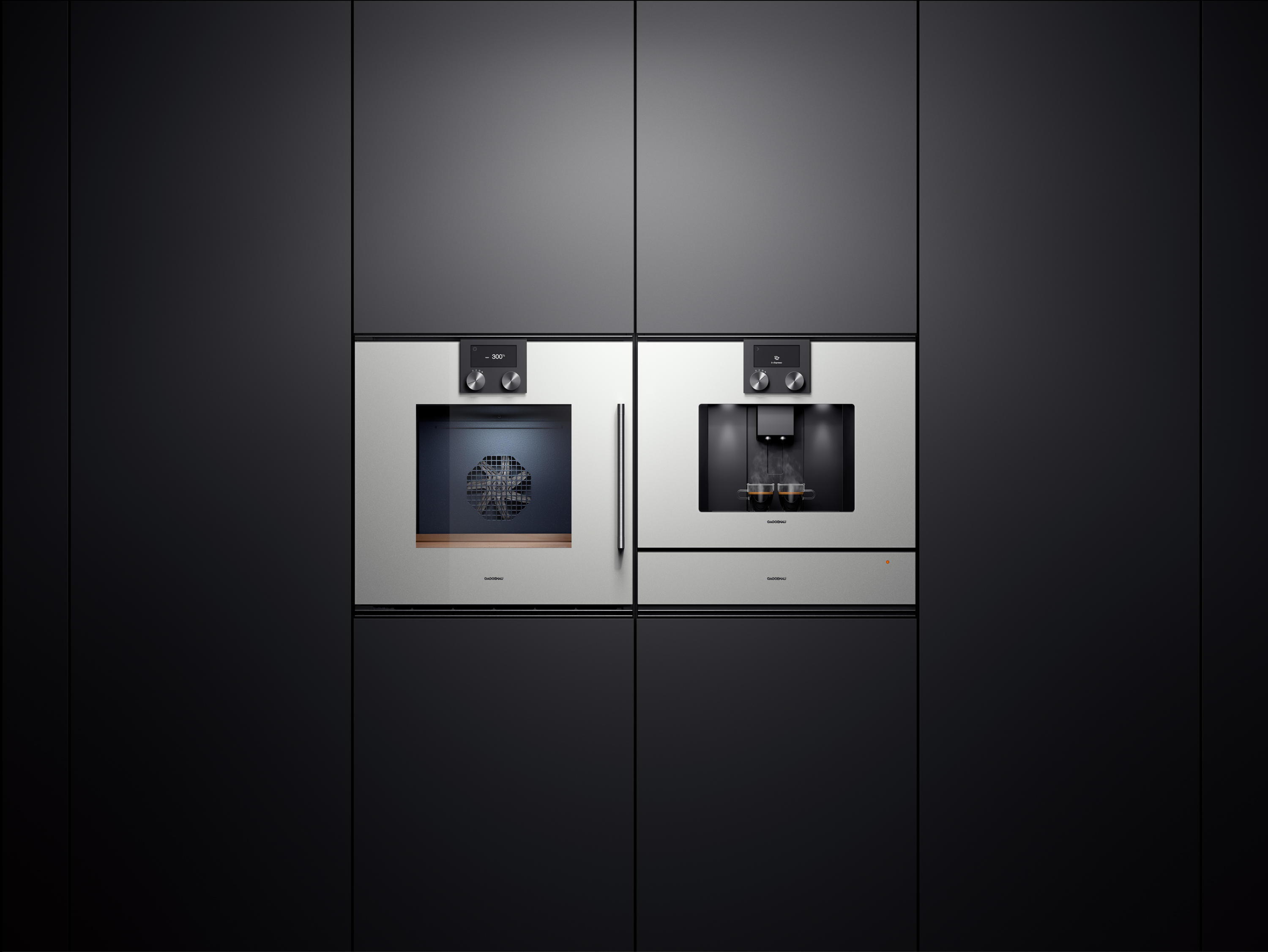 espresso vollautomat serie 200 cm 270 coffee machines from gaggenau architonic. Black Bedroom Furniture Sets. Home Design Ideas