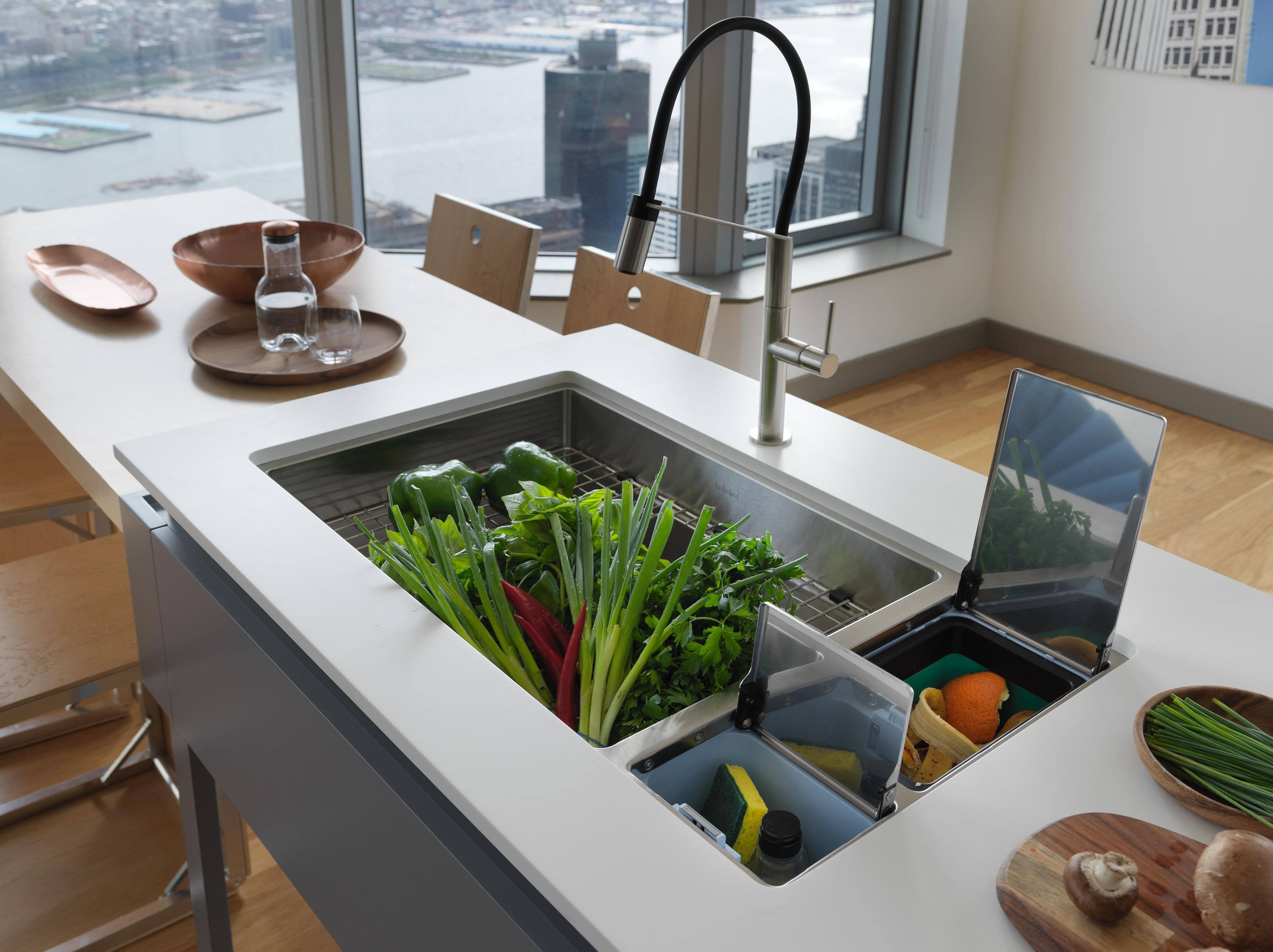 Chef center sinks stainless steel by franke kitchen systems