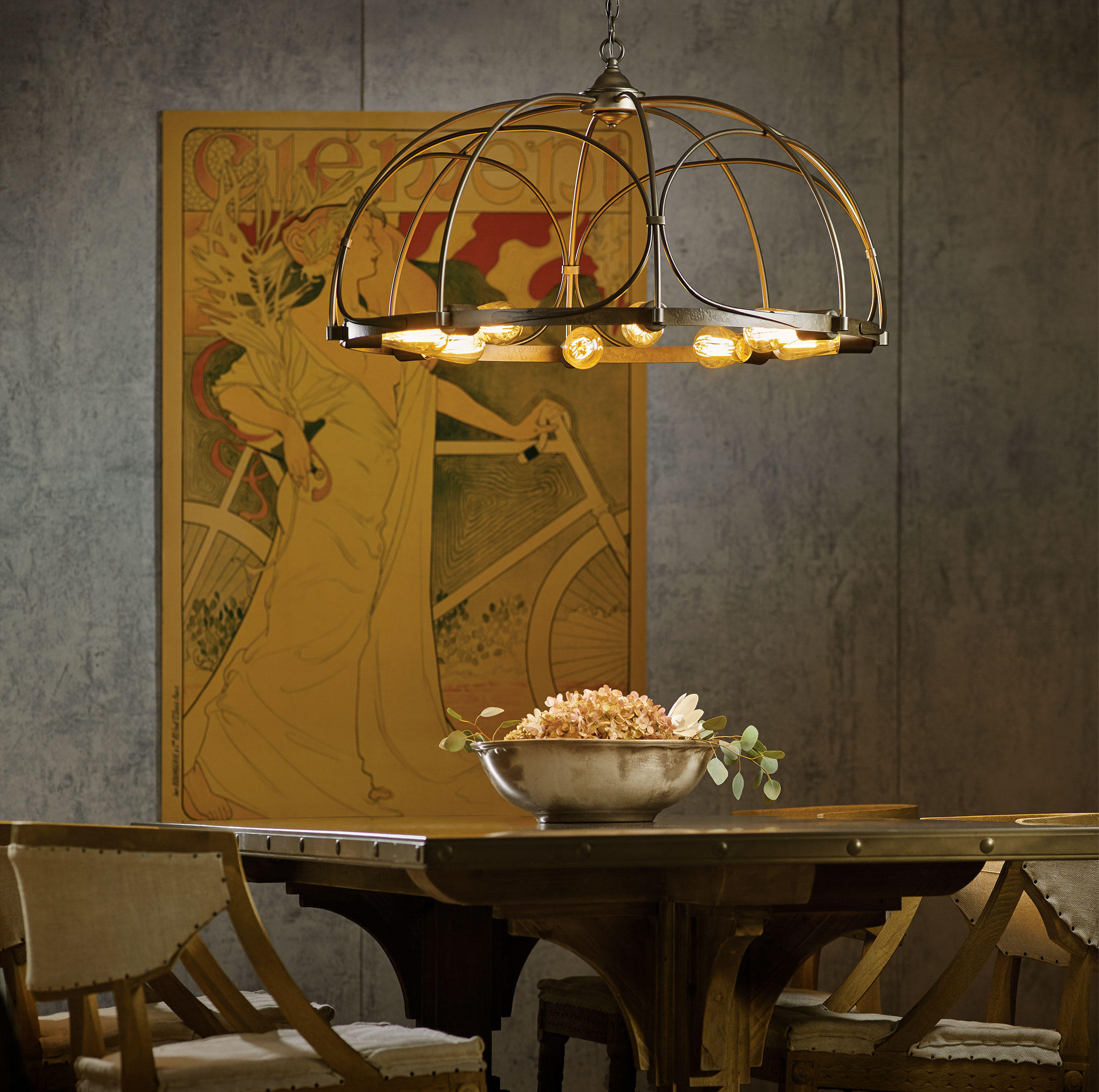 Hubbardton Forge Flora Sconce: Ceiling Suspended Chandeliers From