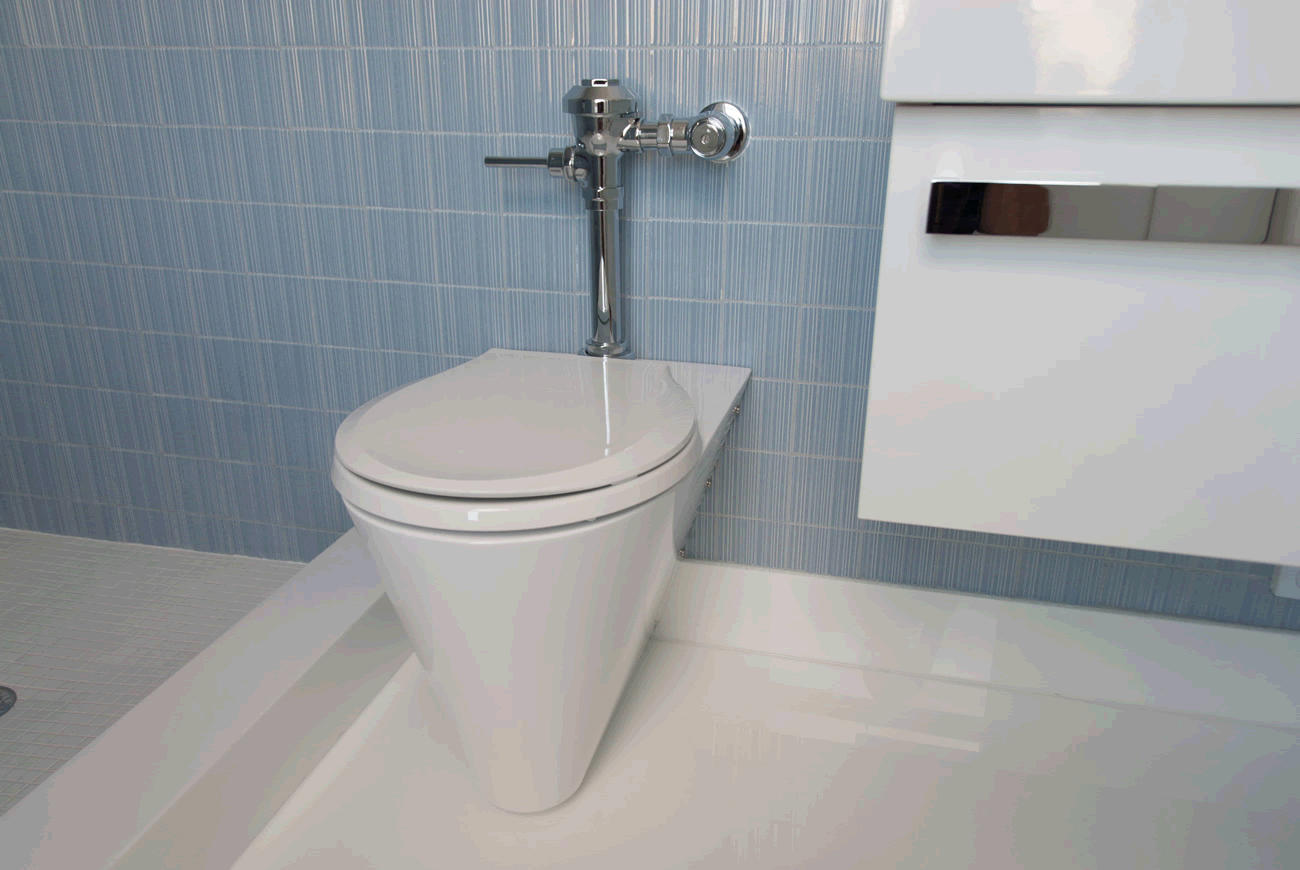 Euro Urban Toilet Configured For In Wall Flushing System By Neo Metro