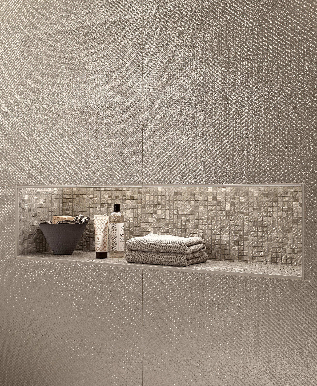 Lumina glam lace almond ceramic tiles from fap ceramiche for H rivestimento bagno