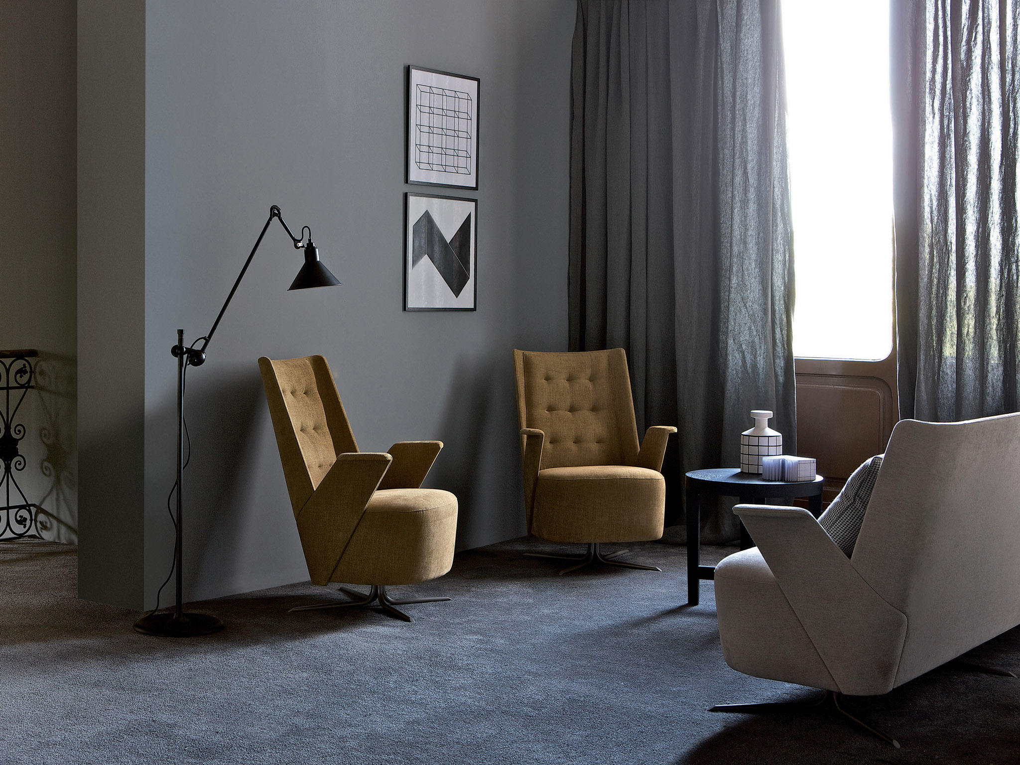 embrace lounge armchair lounge chairs from estel group architonic. Black Bedroom Furniture Sets. Home Design Ideas