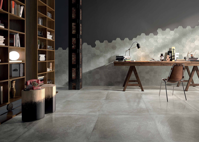 Reden mosaico esagonale dark grey floor tiles from for Carrelage 80x80 noir
