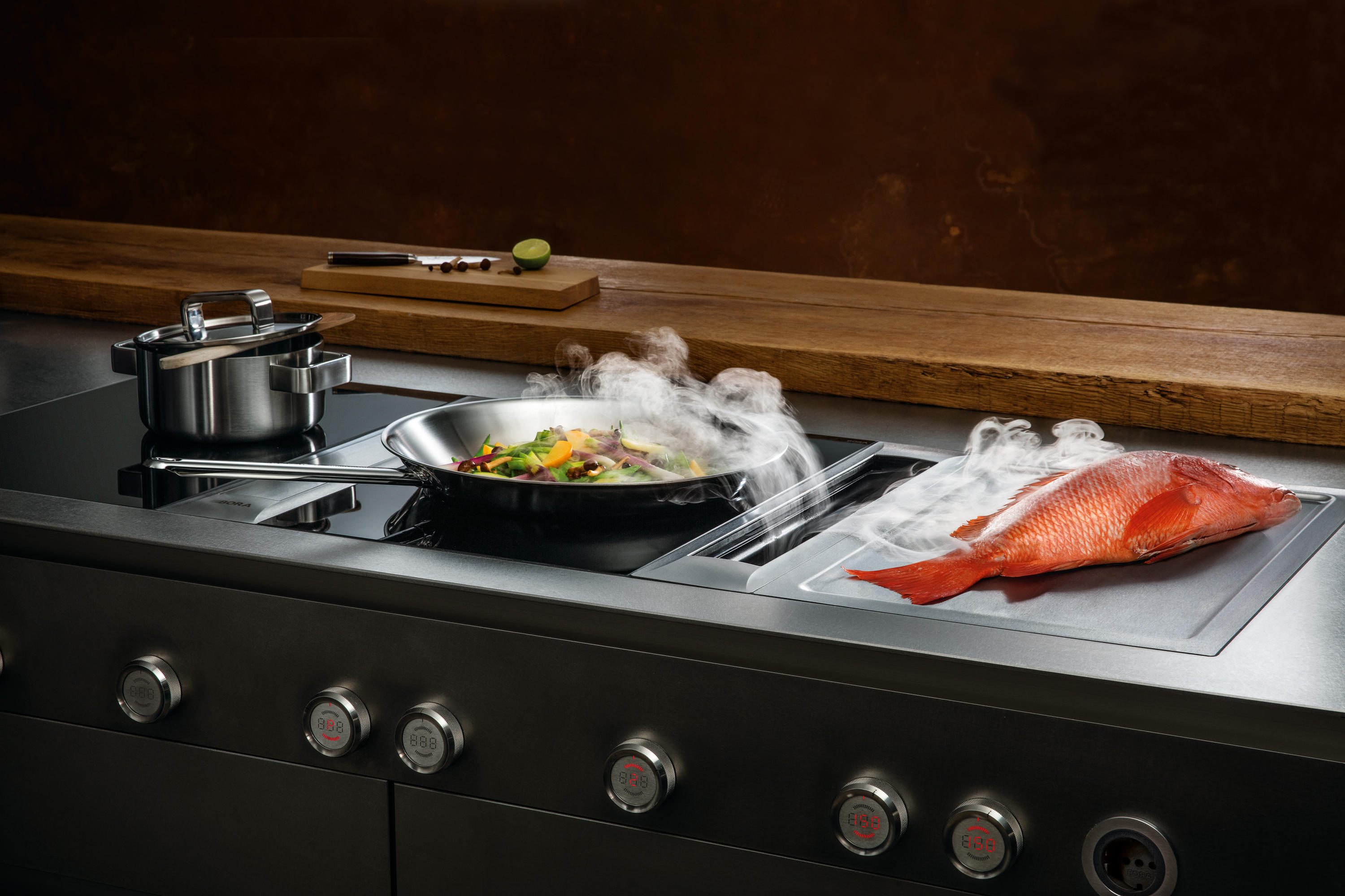 pkas cooktop extractor system extractors from bora architonic