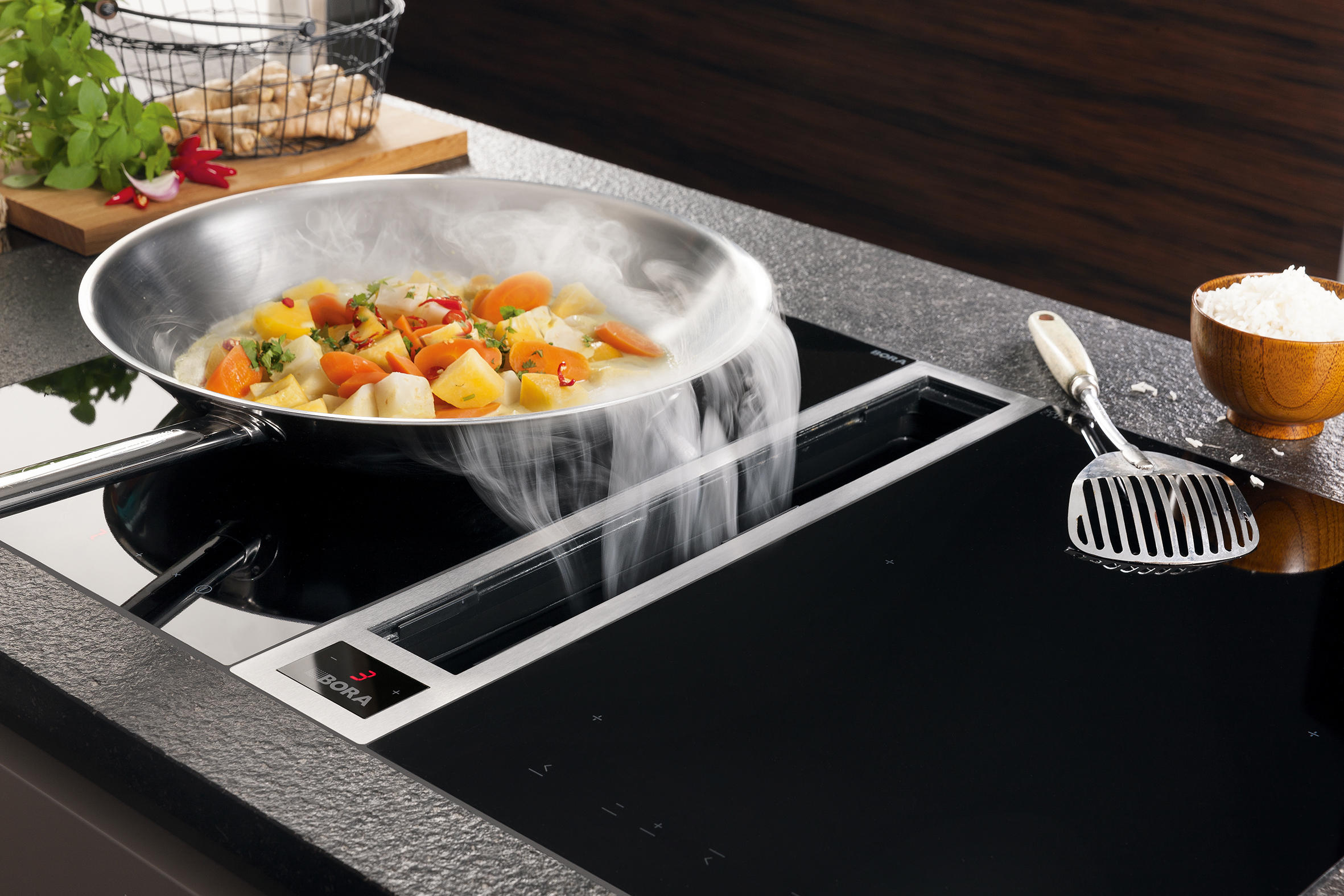 Bora System ckase cooktop extractor system extractors from bora architonic