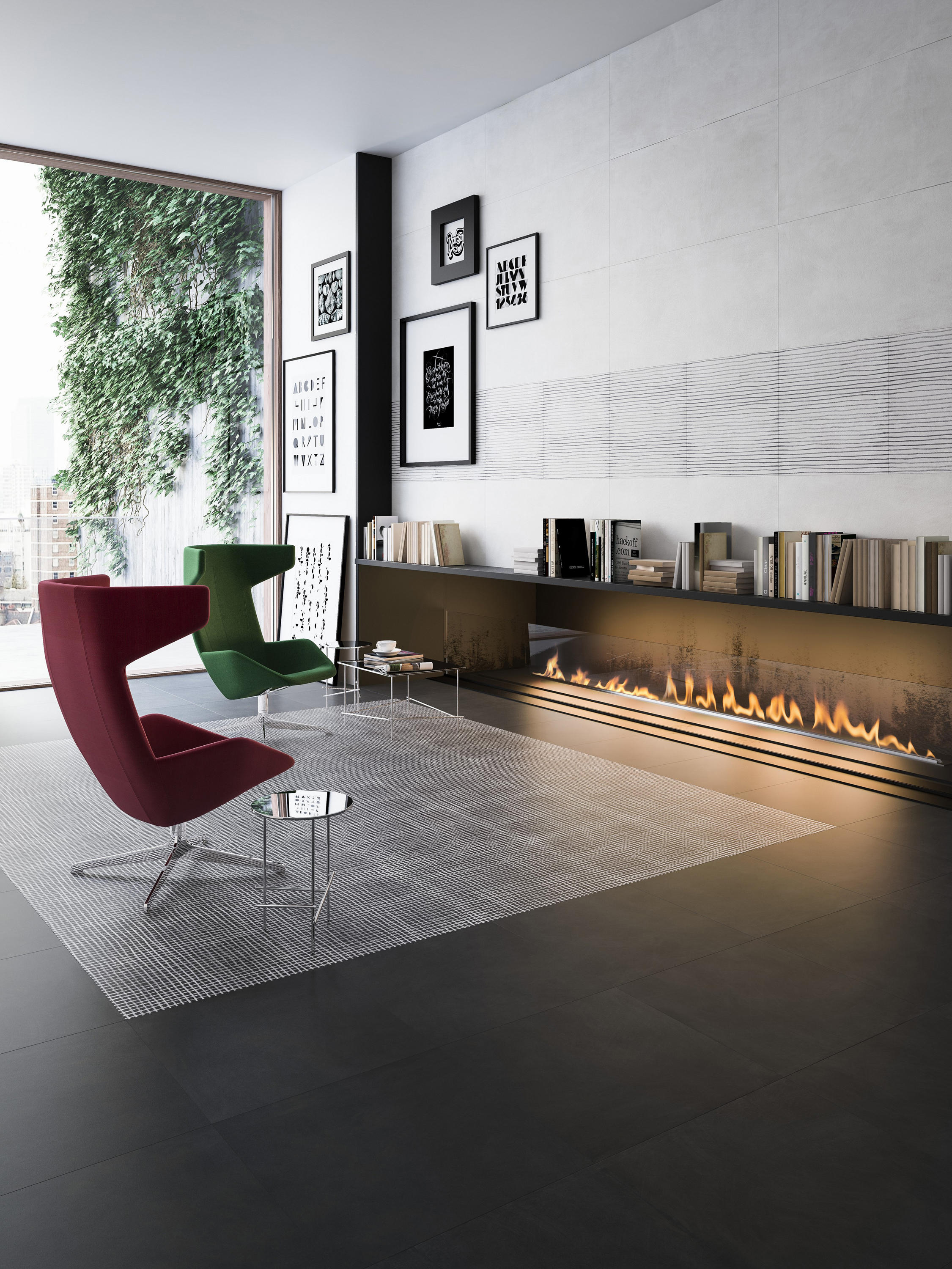 WIDE CARBON 120X240 - Ceramic tiles from Refin | Architonic