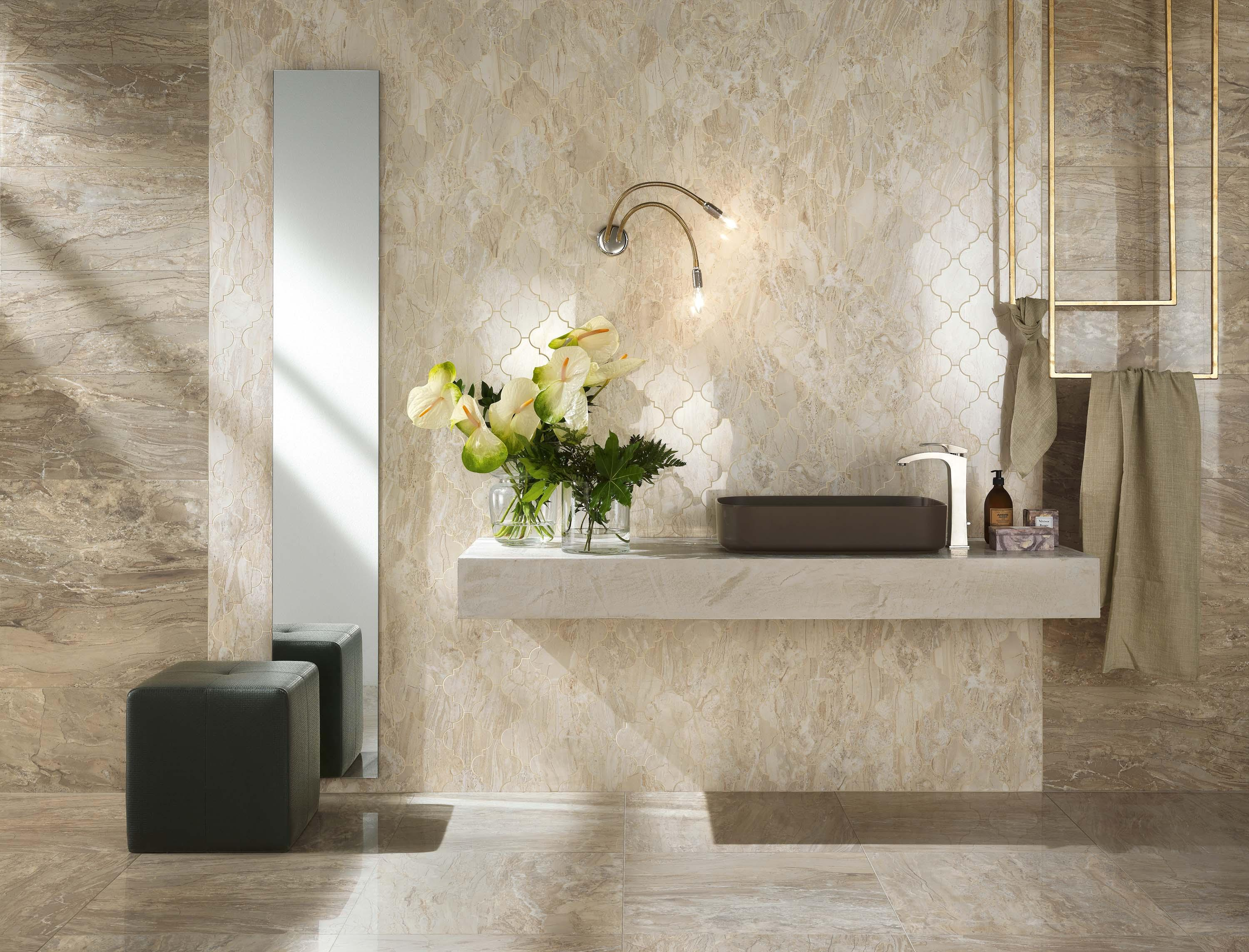Imperial Calacatta Beige Ceramic Tiles From Novabell